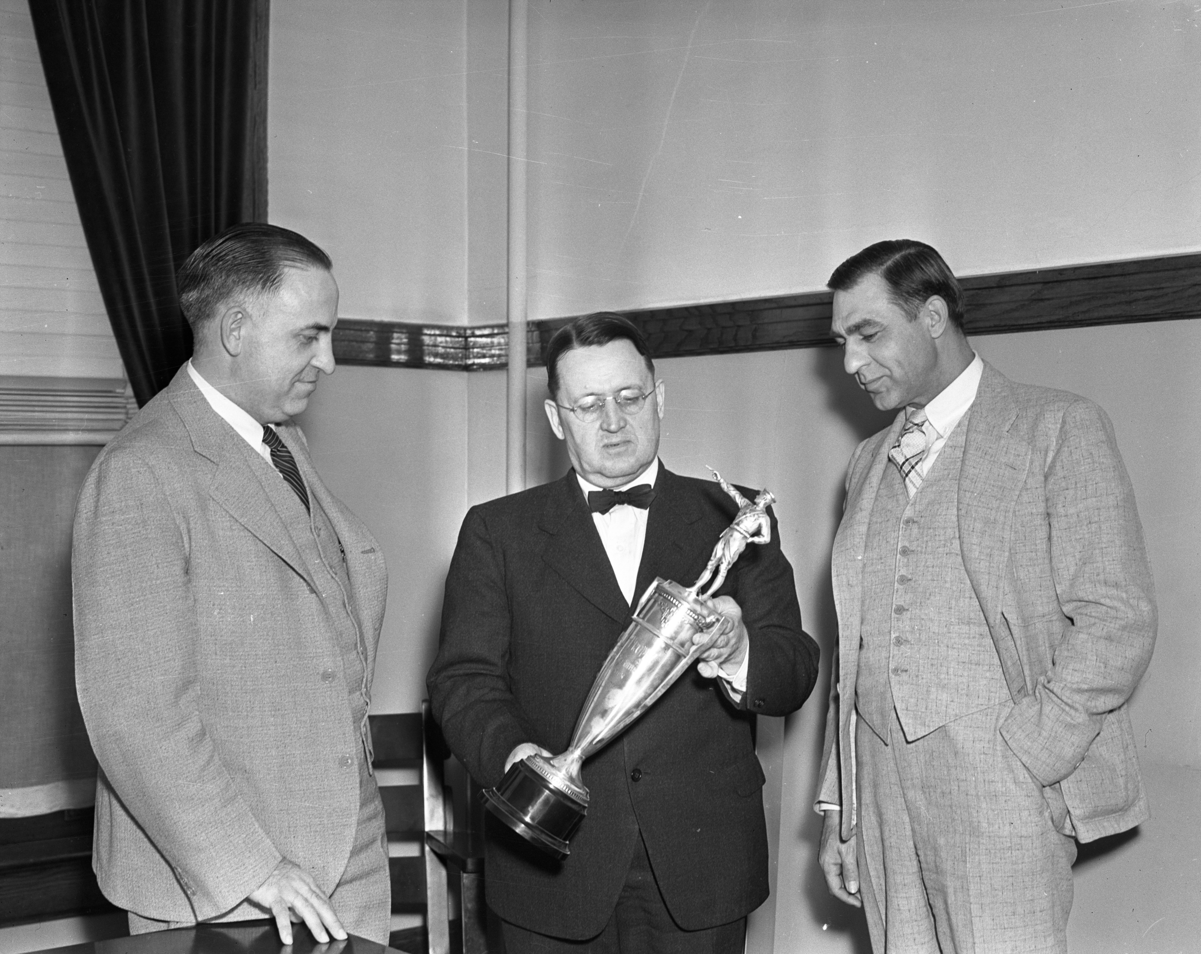 Marksmanship Memorial Trophy Presented To The Ann Arbor Police Department, June 1937 image