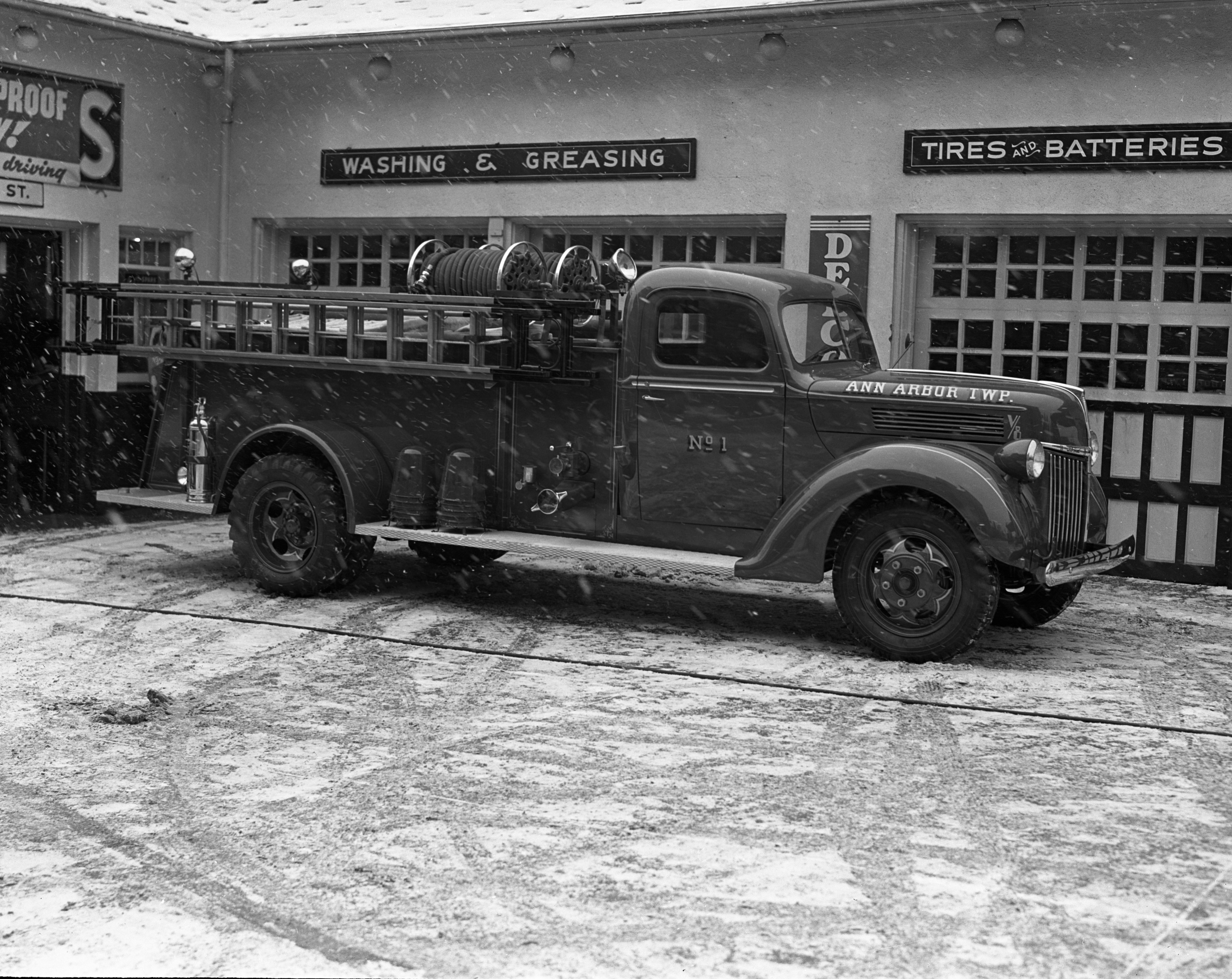 Ann Arbor Township Fire Engine, January 2, 1940 image
