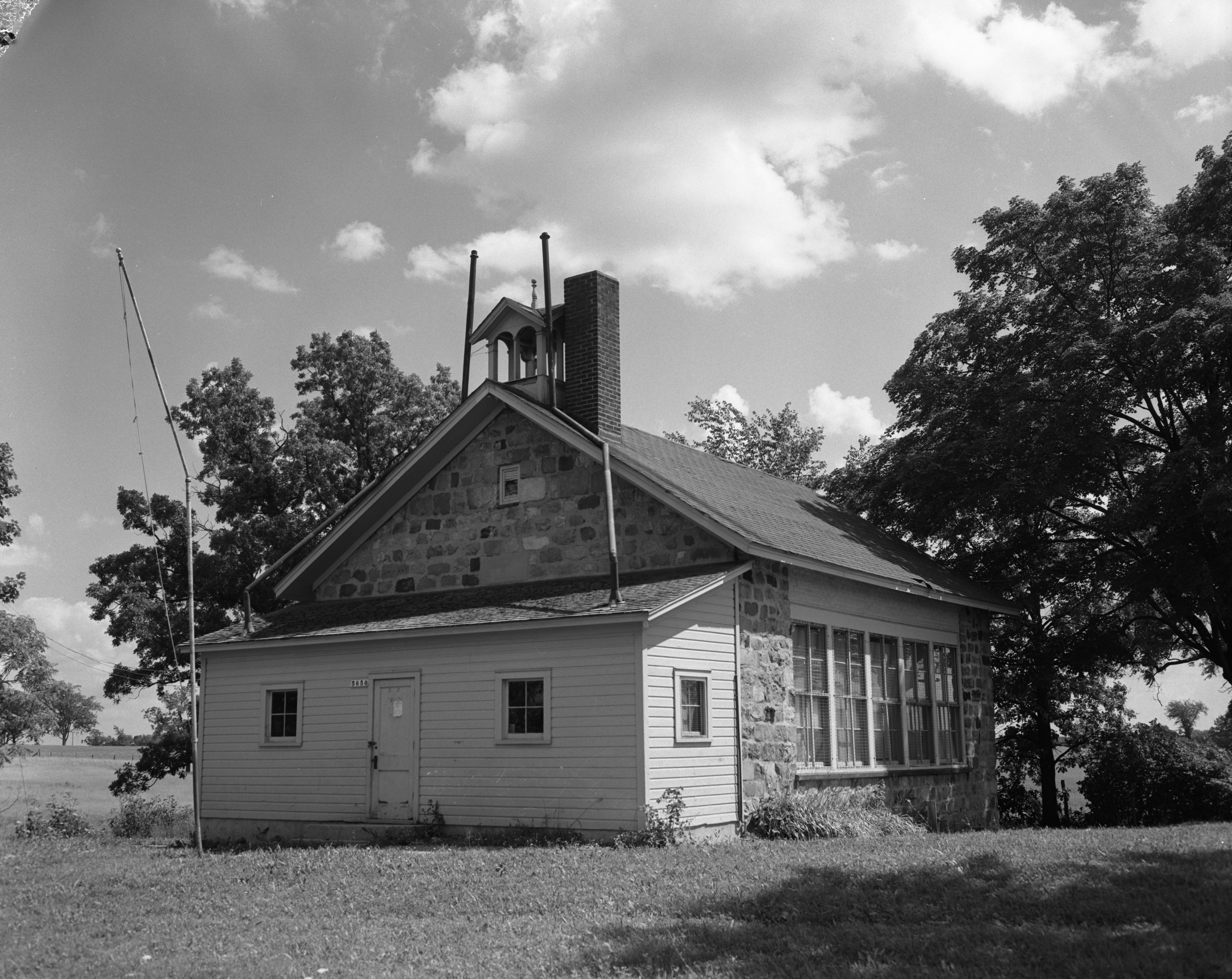 Historic Superior Townline School on Joy Road, August 1956 image