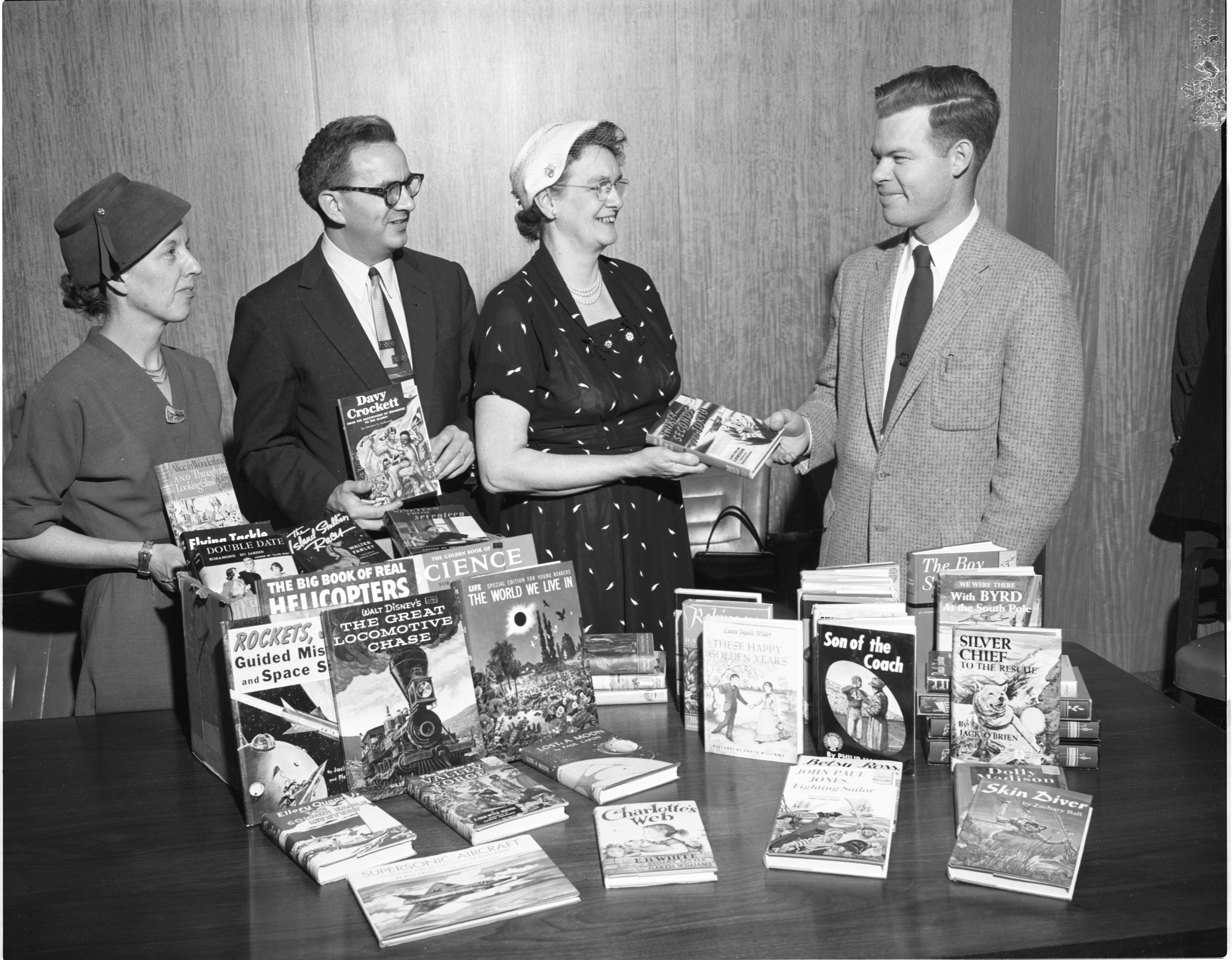 Libraries Donate Books To Washtenaw County Juvenile Home, January 1957 image