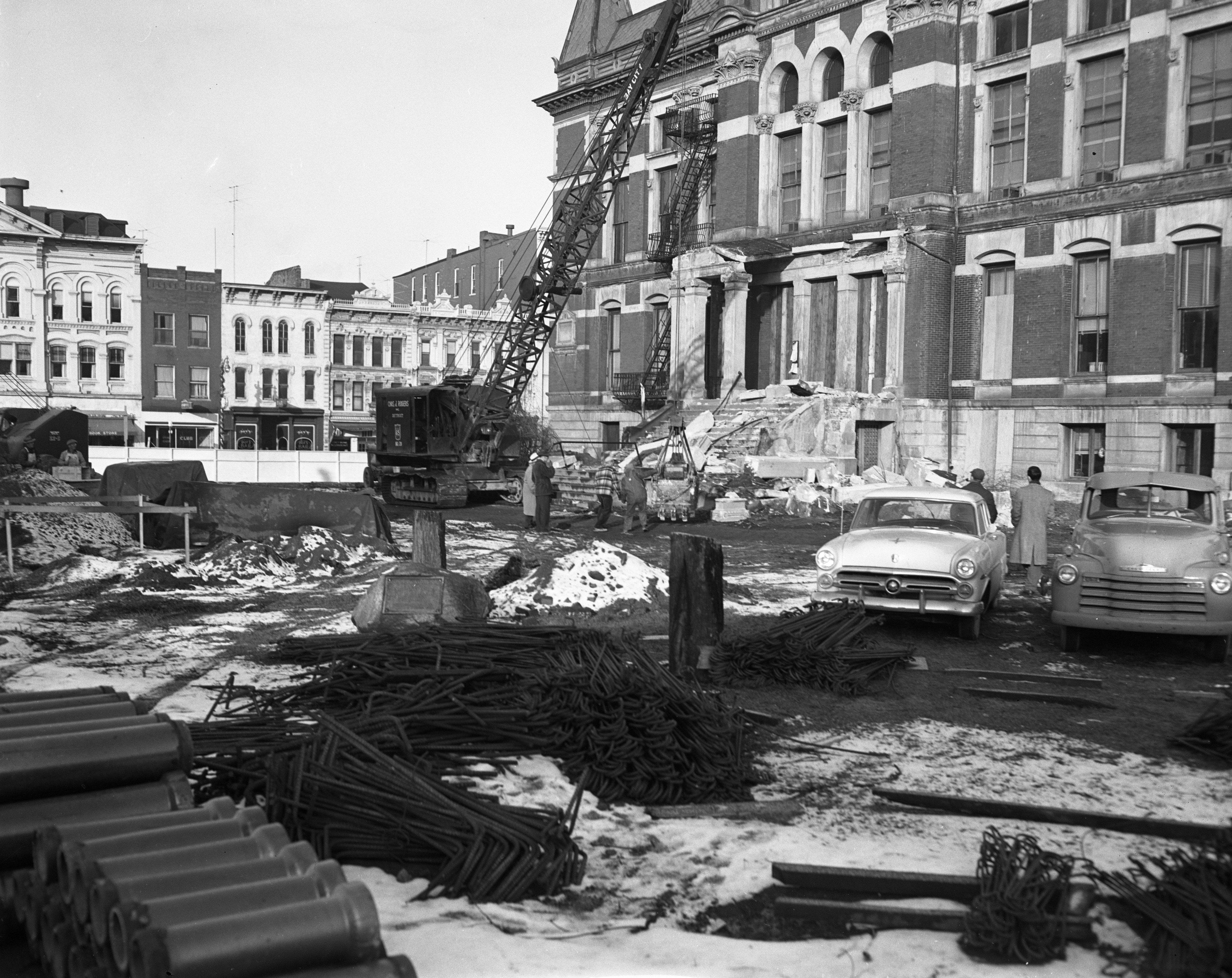 Tearing Down the South Entrance of the Old Courthouse, November 1953 image