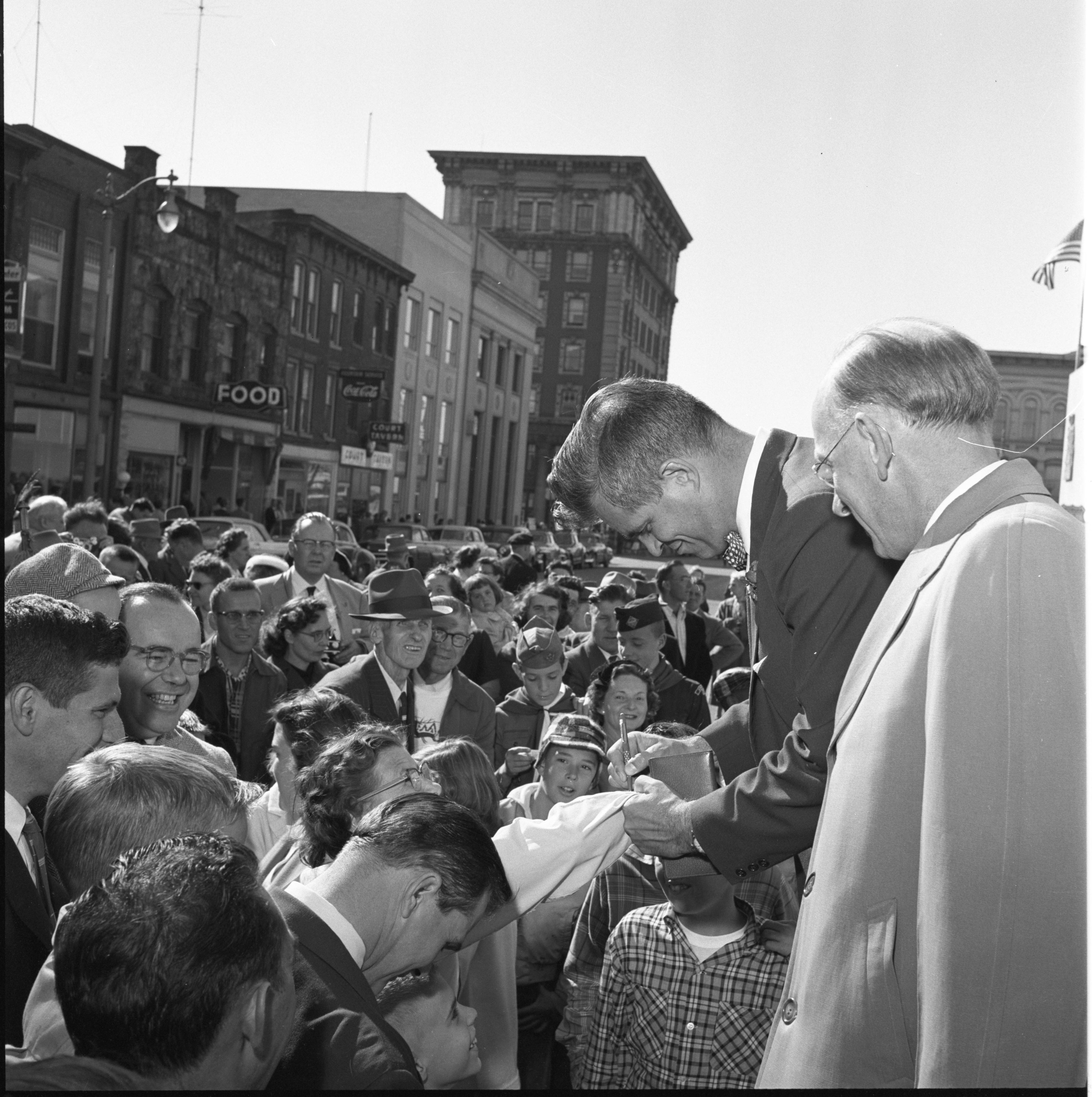 Gov. G. Mennen Williams Signs His Autograph At The Washtenaw County Building Dedication Ceremony, October 1956 image