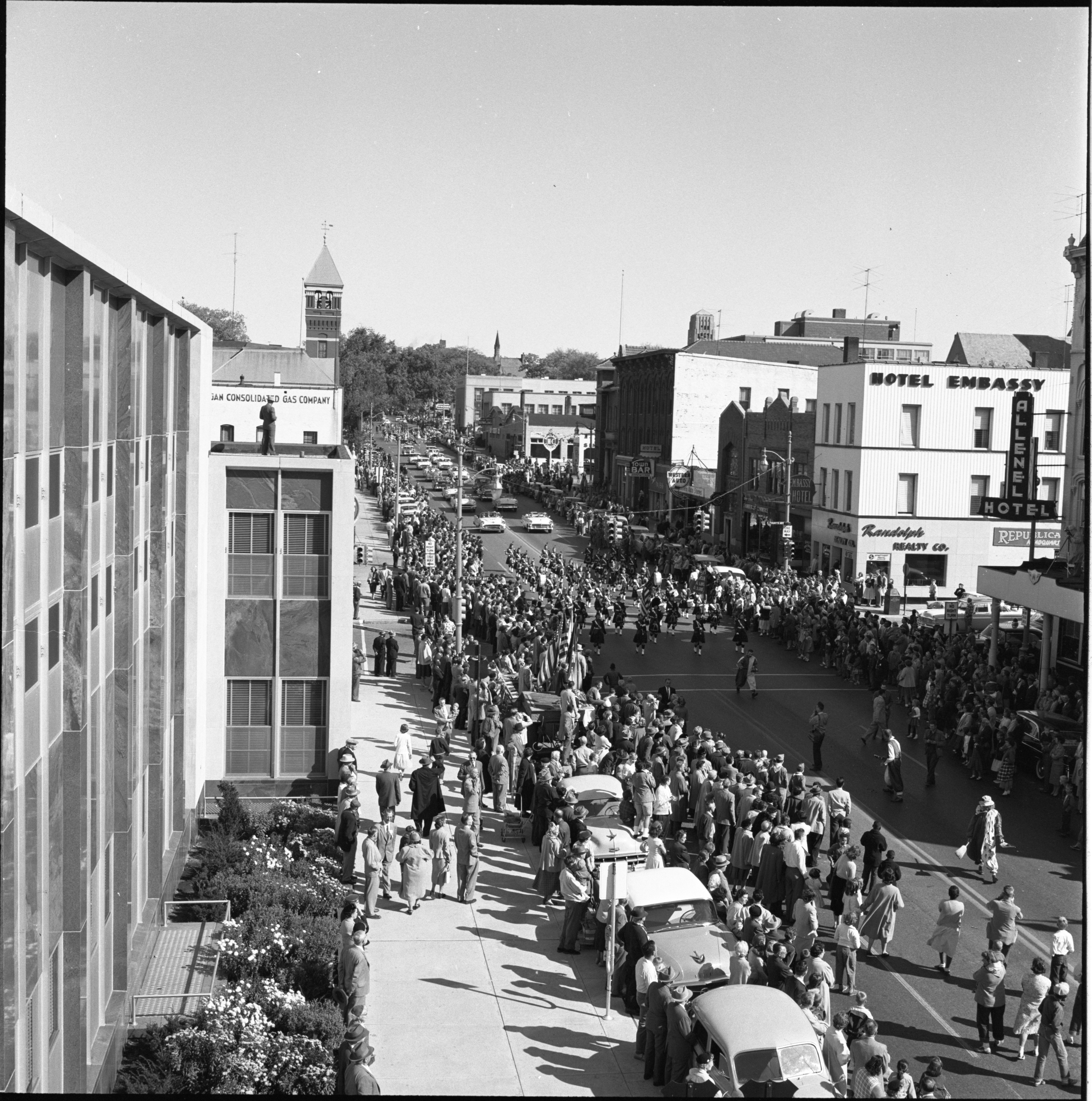 The Washtenaw County Building Dedication Parade, October 1956 image