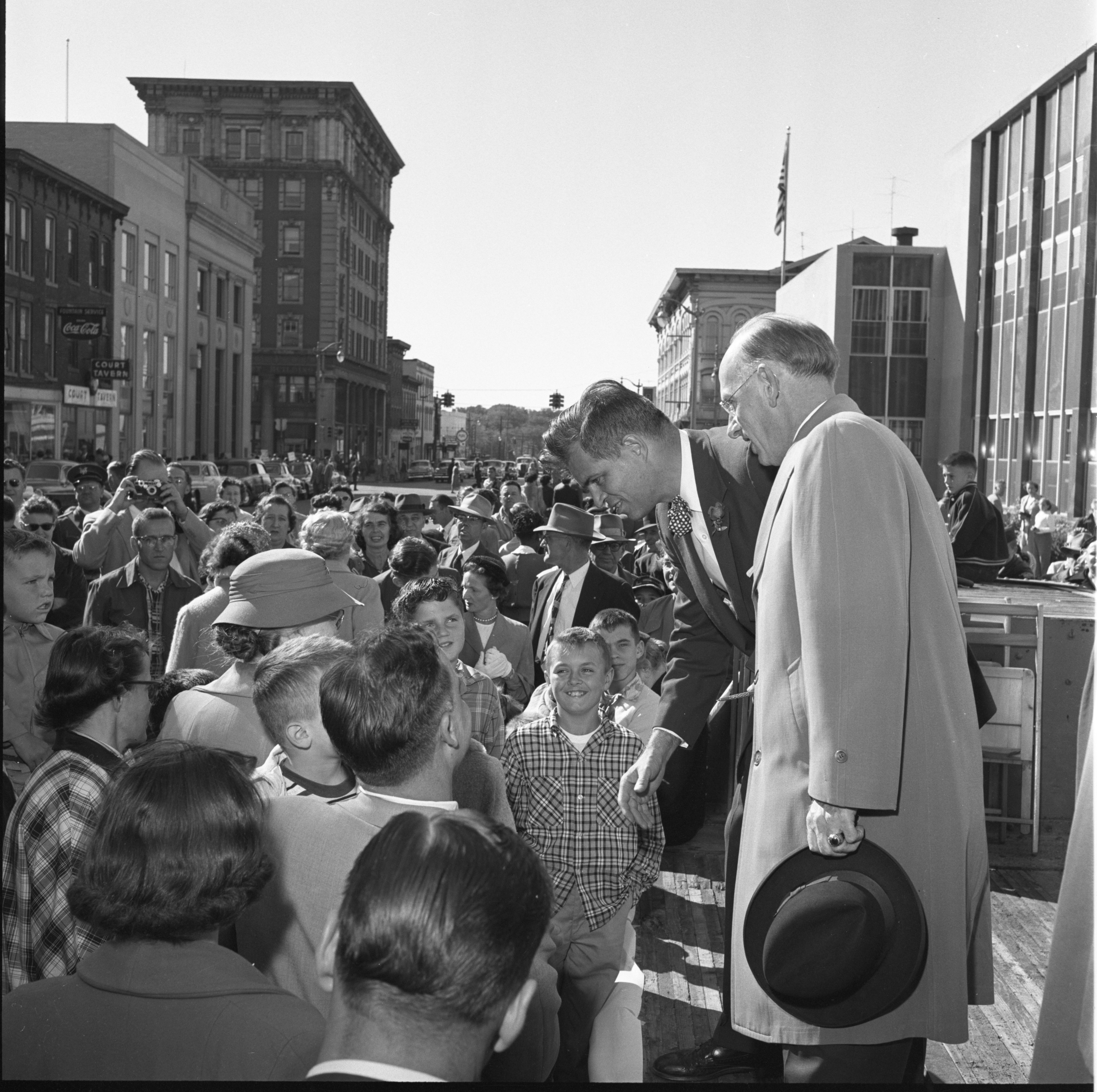 Gov. G. Mennen Williams Greets The Public At The Washtenaw County Building Dedication Ceremony, October 1956 image
