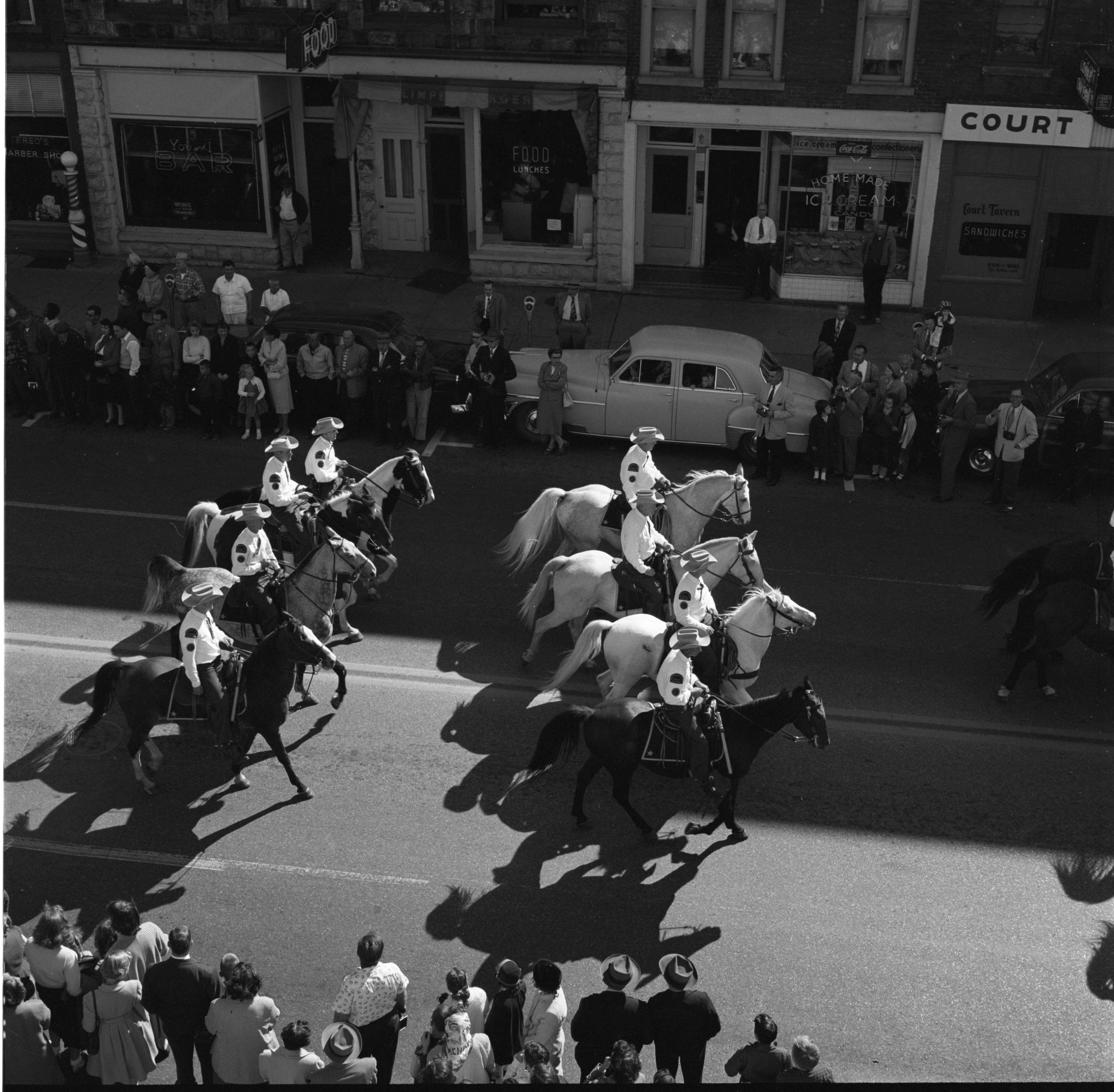 Sheriff Department's Mounted Unit Rides In The Washtenaw County Building Dedication Parade, October 1956 image