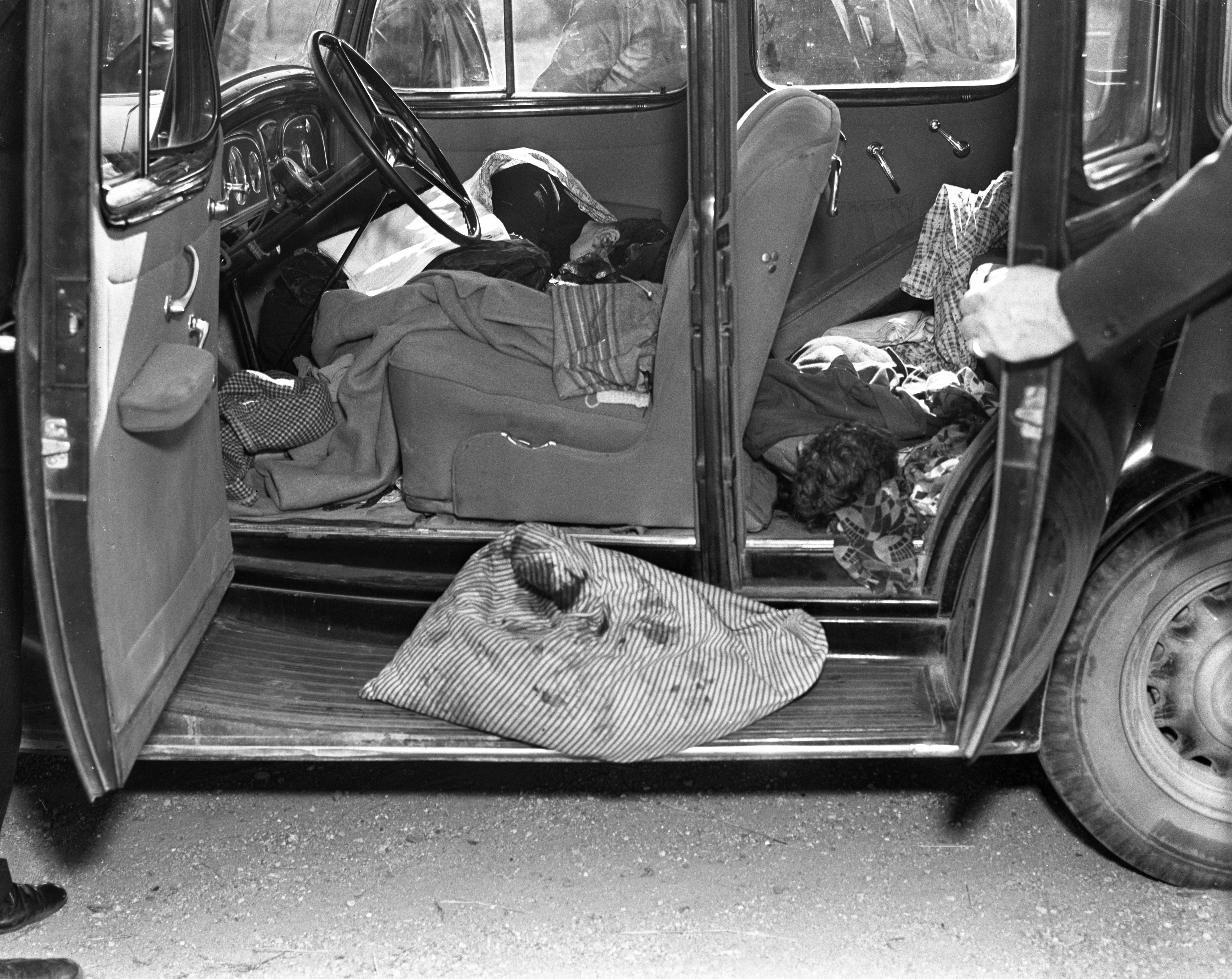 Abandoned Car in Ruth McHenry Murders, October 1, 1937 image