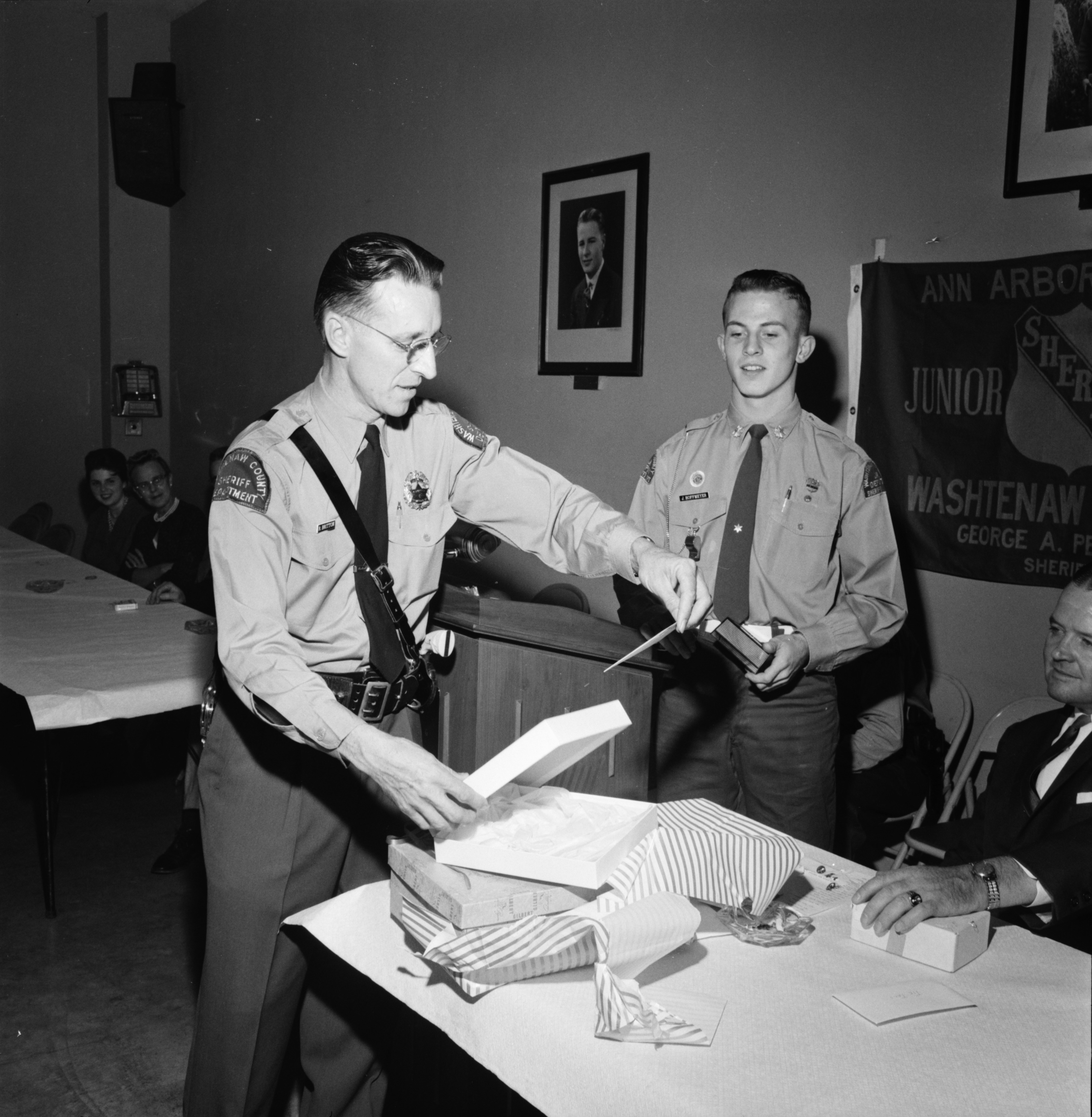 Director Robert C. Britton Receives Gift From Junior Deputies, November 1961 image