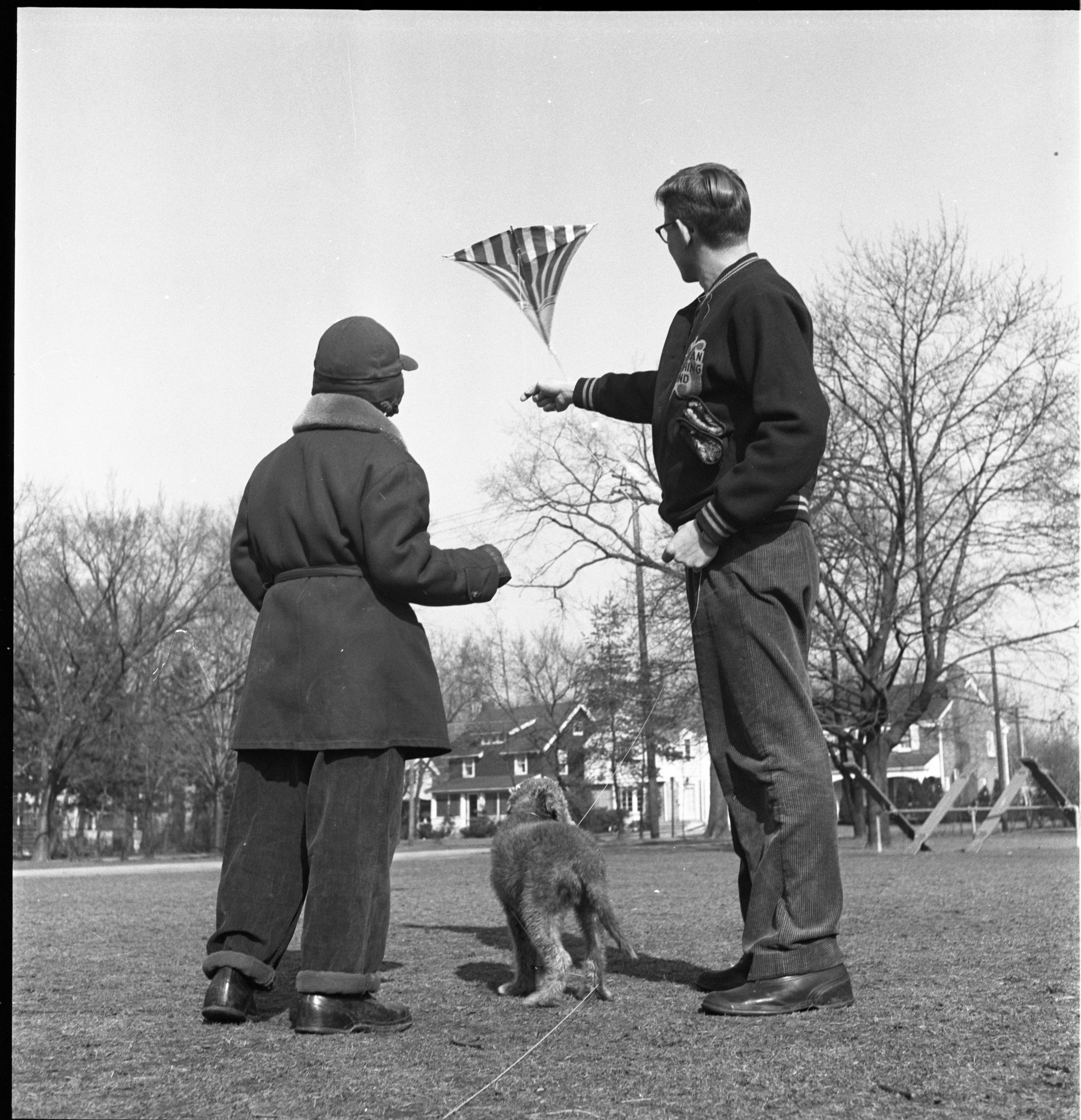 Flying A Kite On The First Day Of Spring, March 1953 image