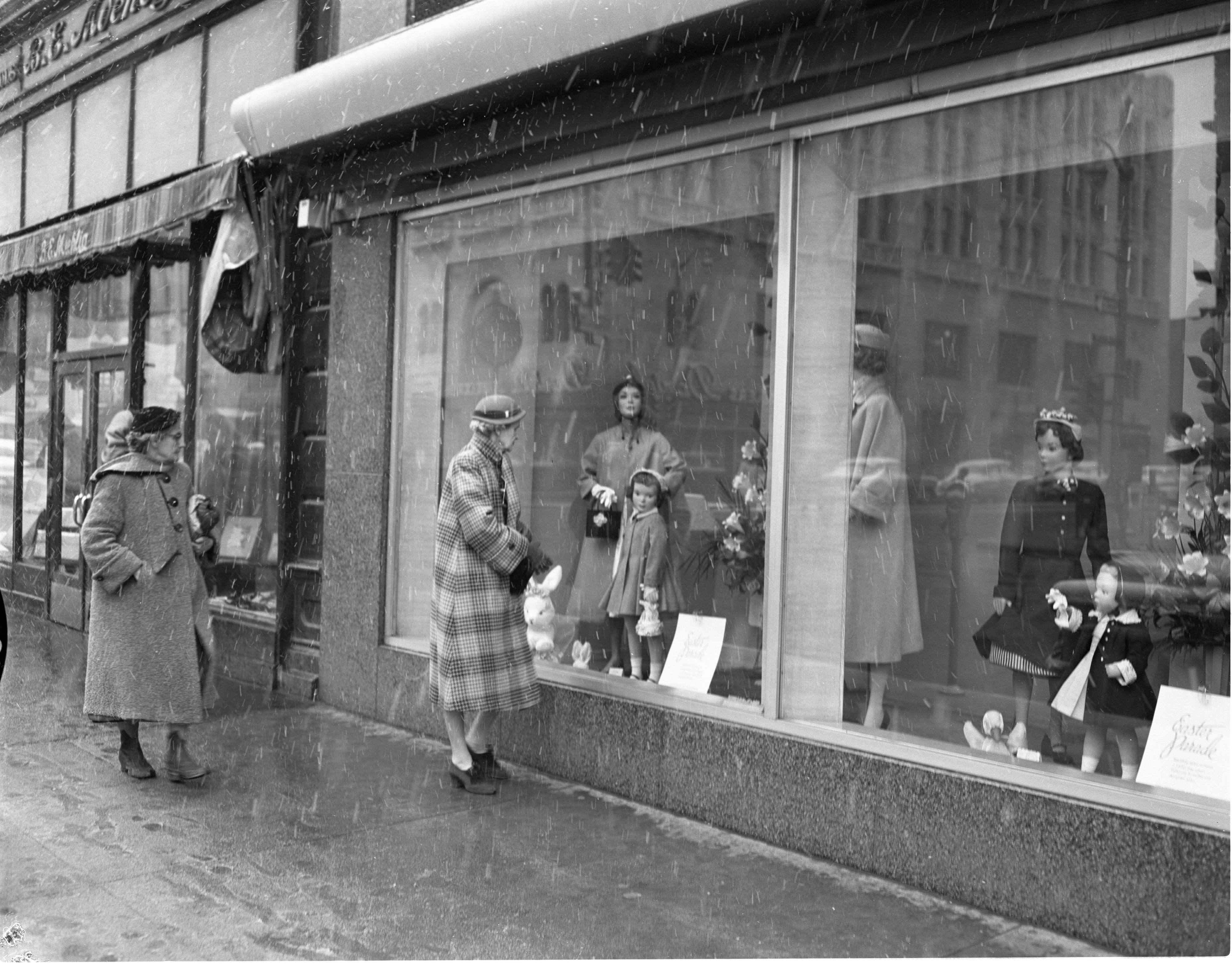 Window Shoppers Outside Of Goodyear's Department Store, March 1956 image