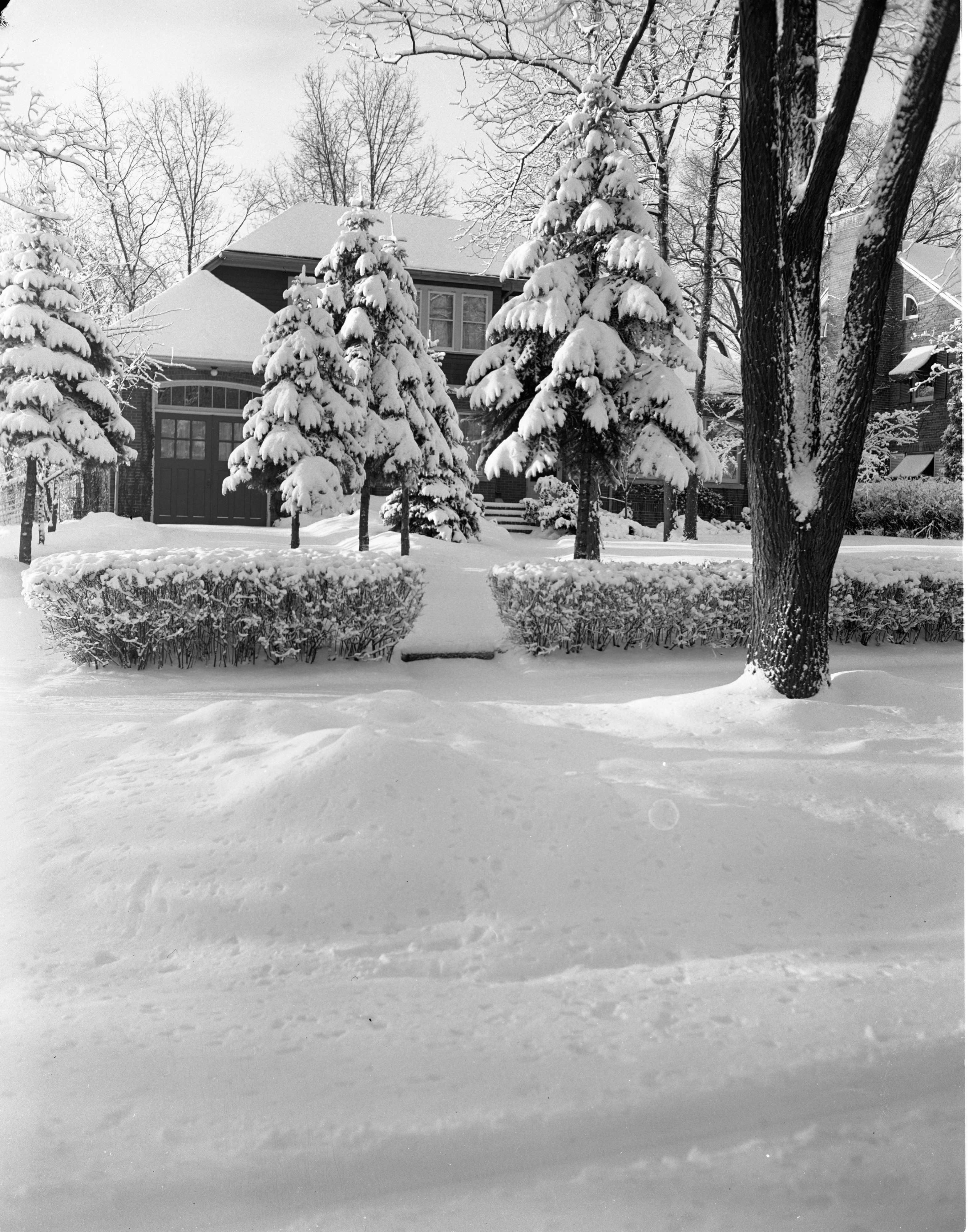 A Home Covered In Fresh Snow On Berkshire Road, February 1957 image