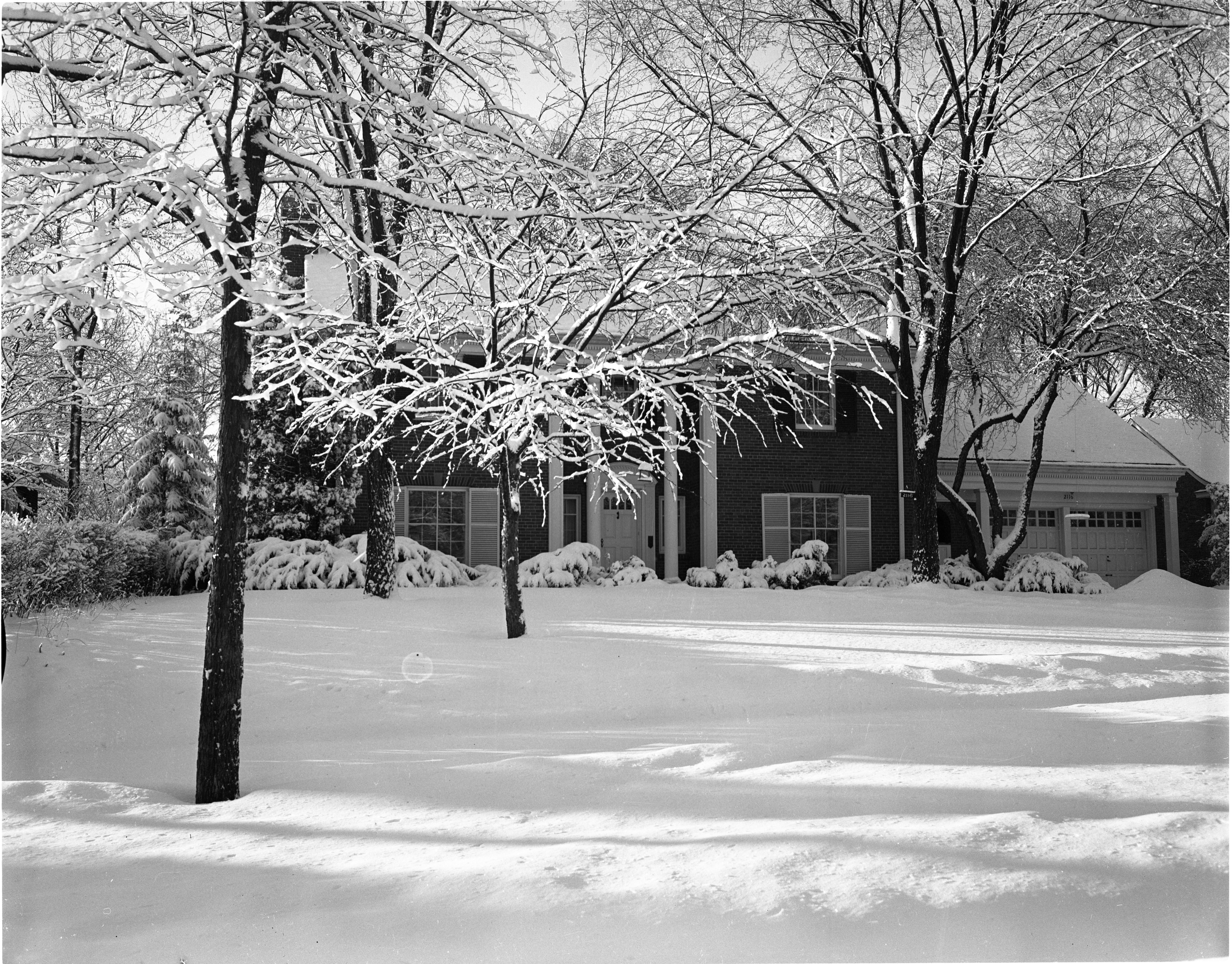 Mayor William E. Brown Jr.'s Home Covered In Fresh Snow, February 1957 image