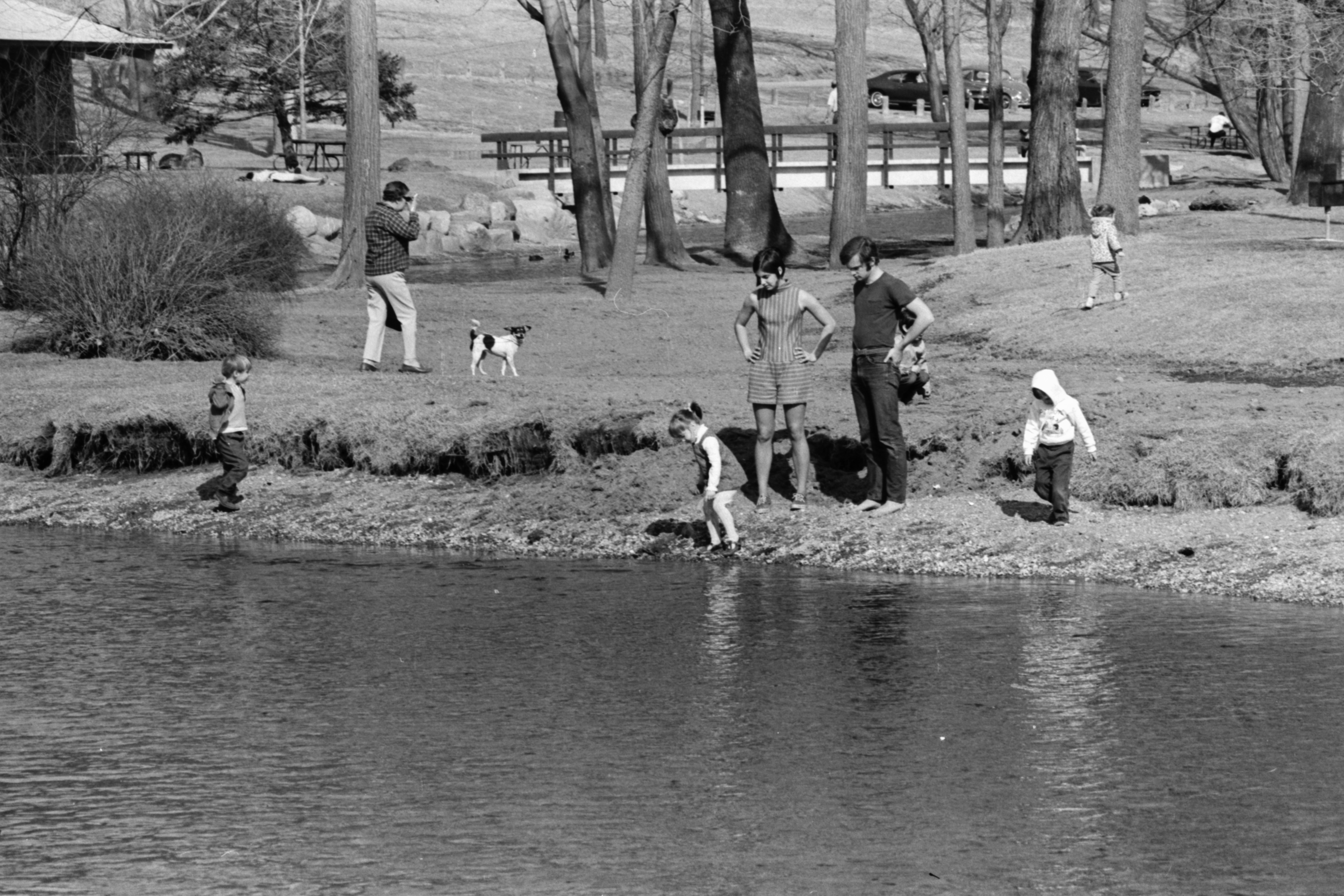 A warm day at Island Park, March 1969 image