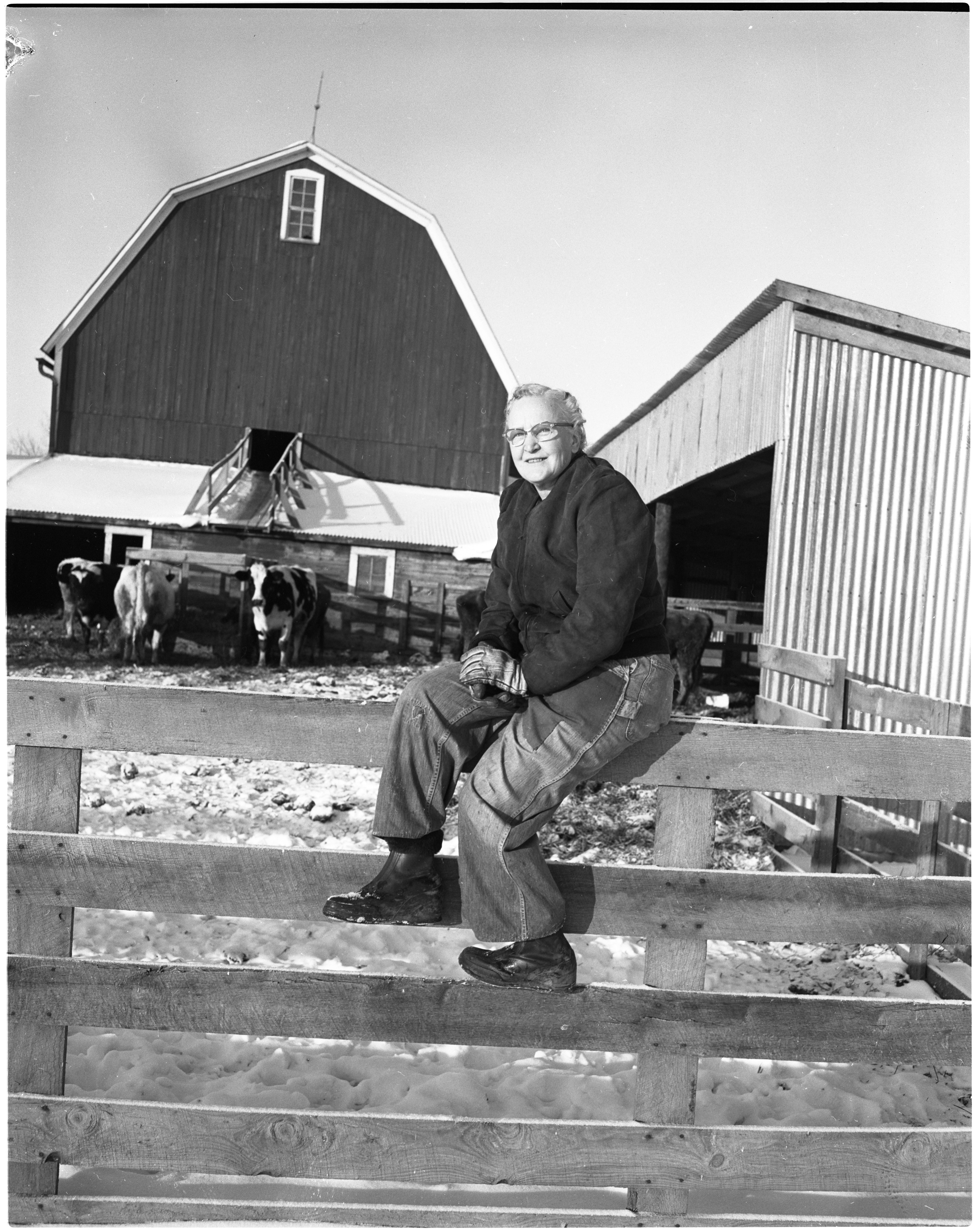 Dr. L. Dell Henry On Her Farm, January 1957 image
