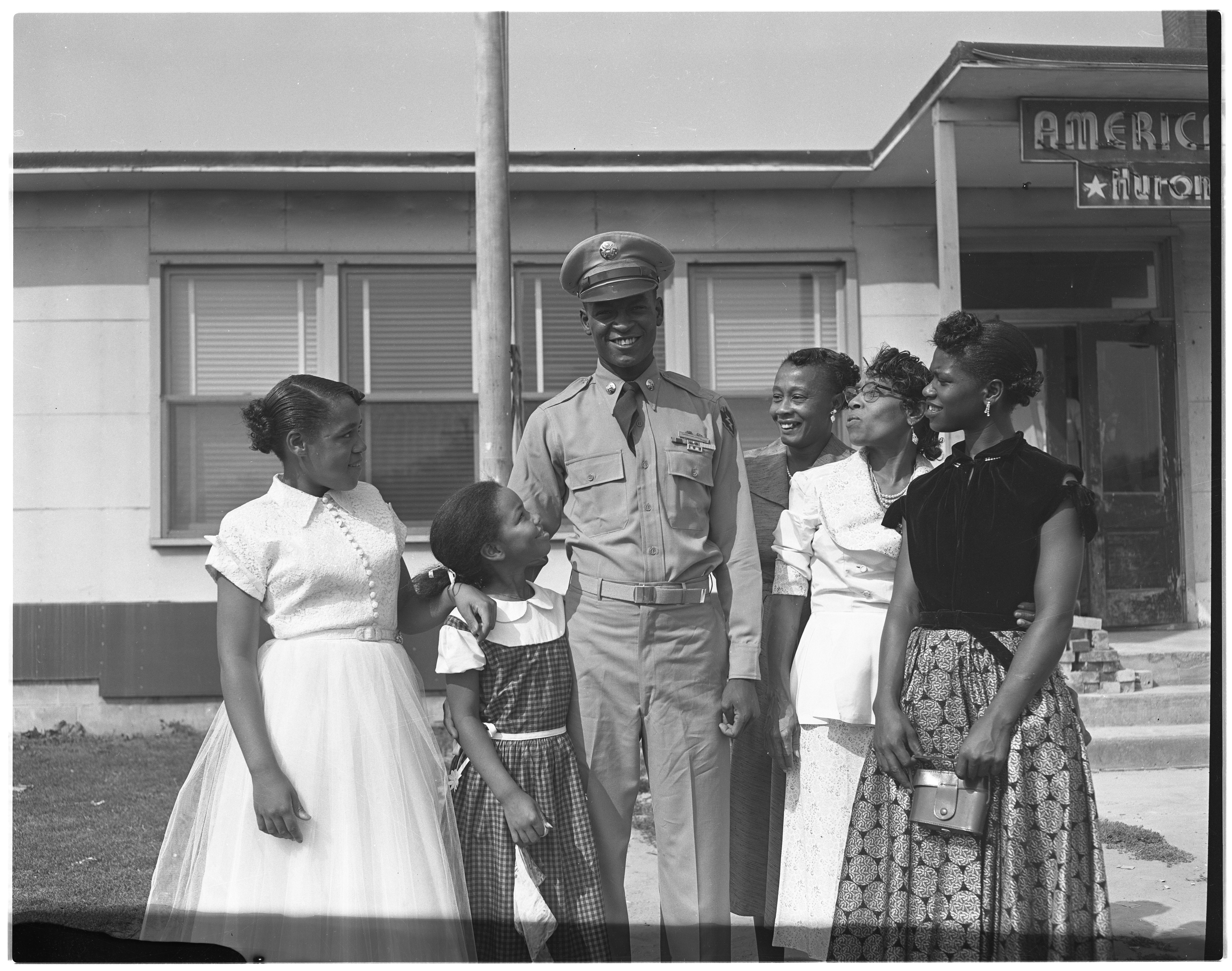 Family Greets Korean War Vet Robert W. Fletcher, August 1953 image