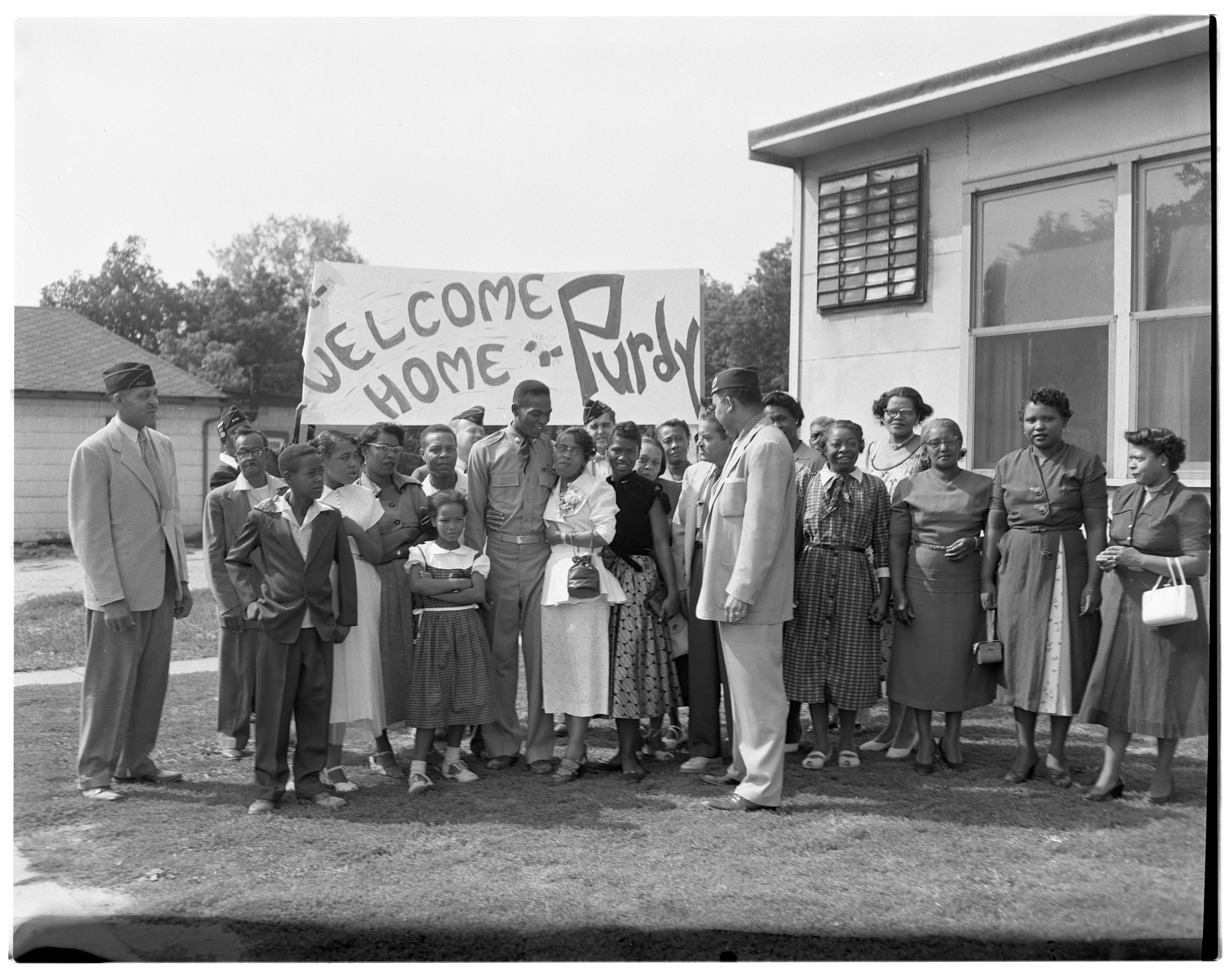 Welcoming Ceremony for Korean War Vet Robert W. Fletcher, August 1953 image