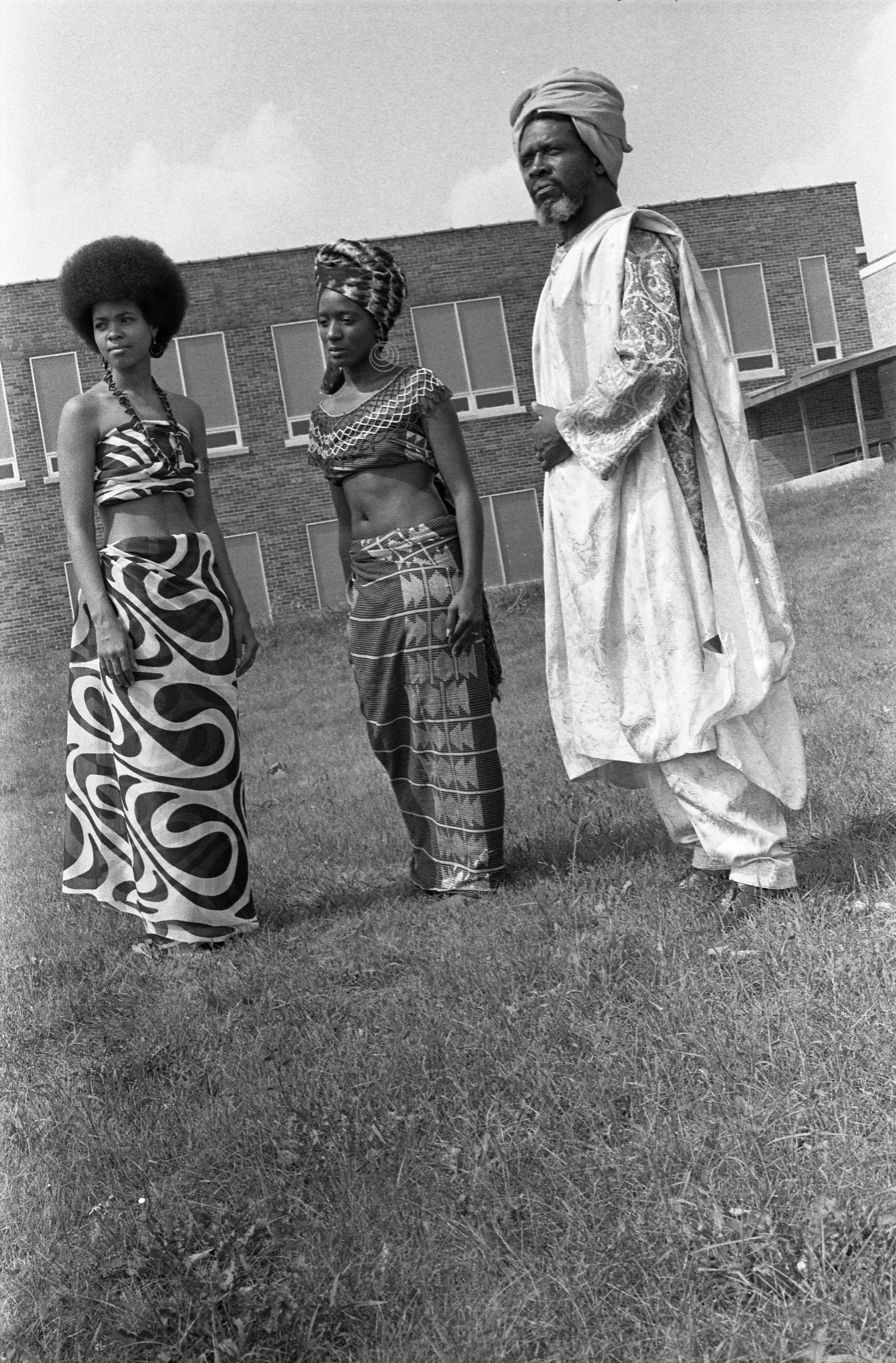 Black Arts Fair Models In Costume, September 1972 image