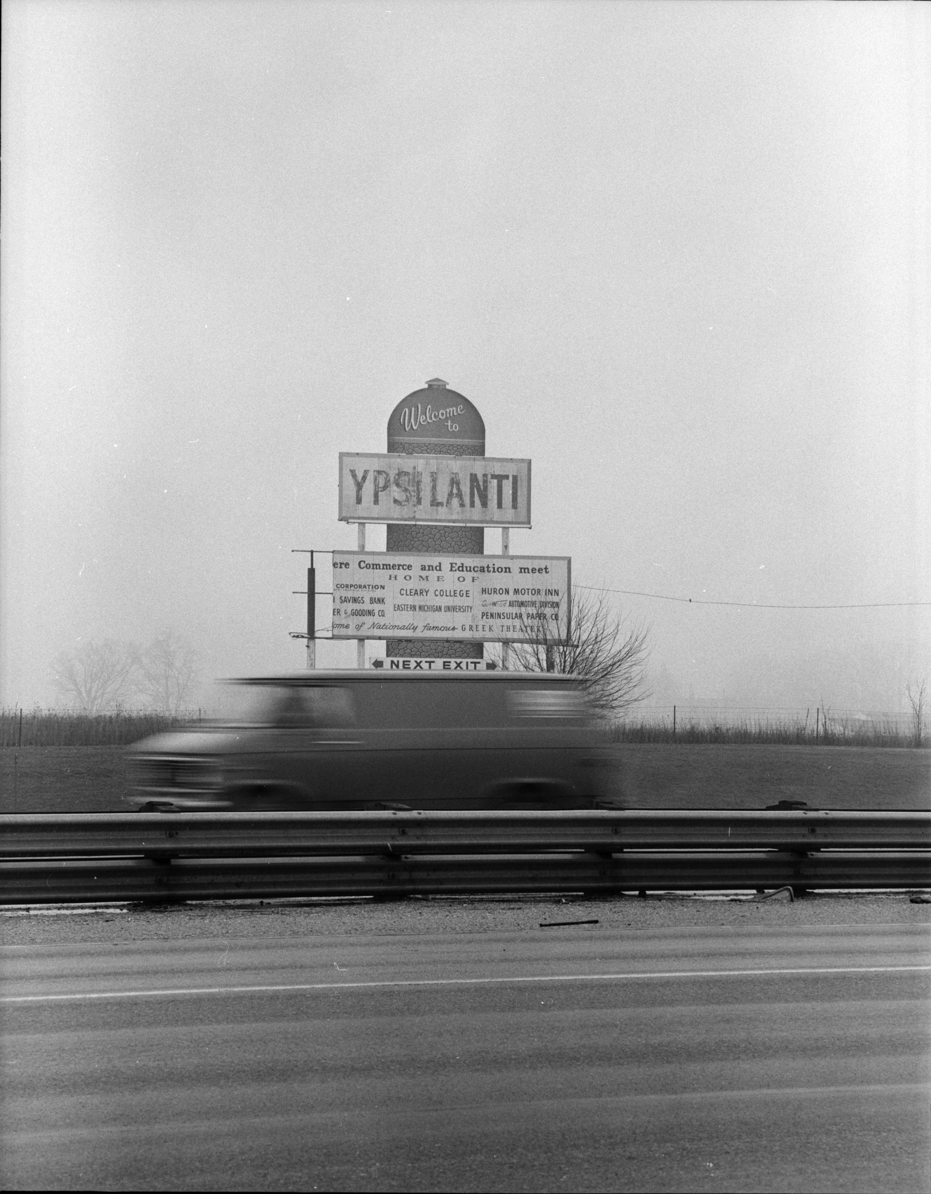 'Welcome to Ypsilanti' Sign to be Taken Down, March 1973 image