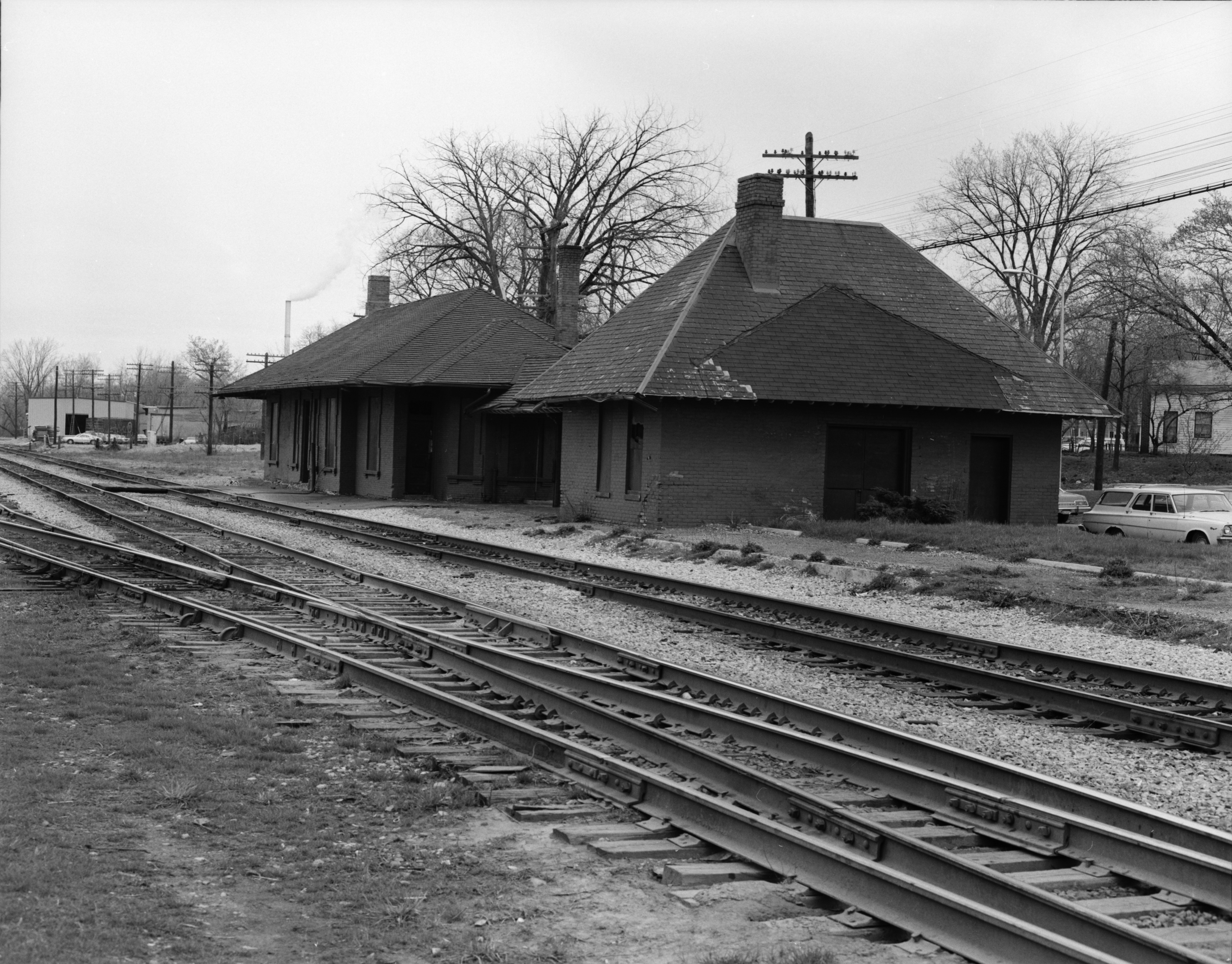 Train station in Ypsilanti's Depot Town, May 1974 image