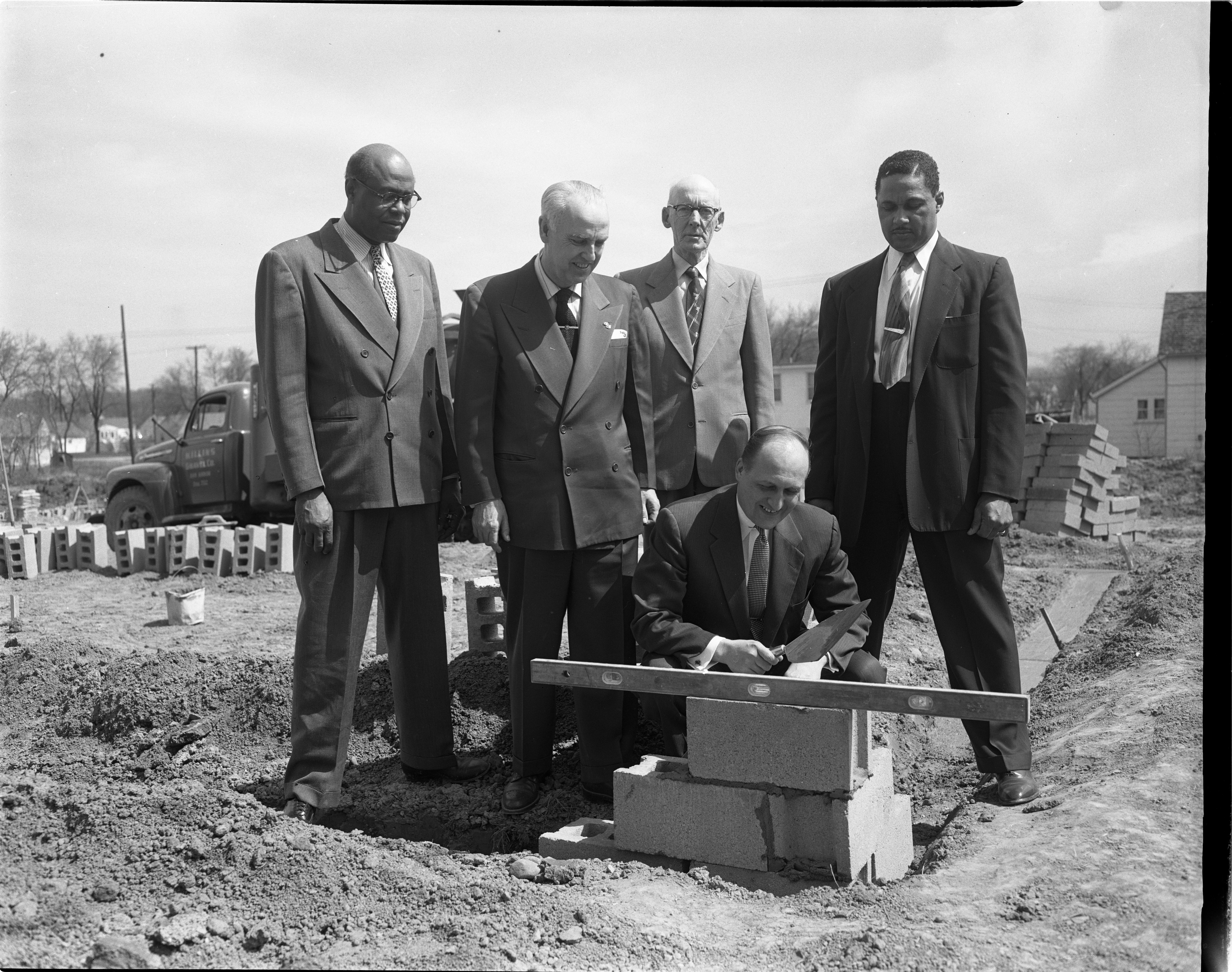 Housing & City Officials Gather To Commemorate The Construction Of The Amos Washington Subdivision, April 1954 image