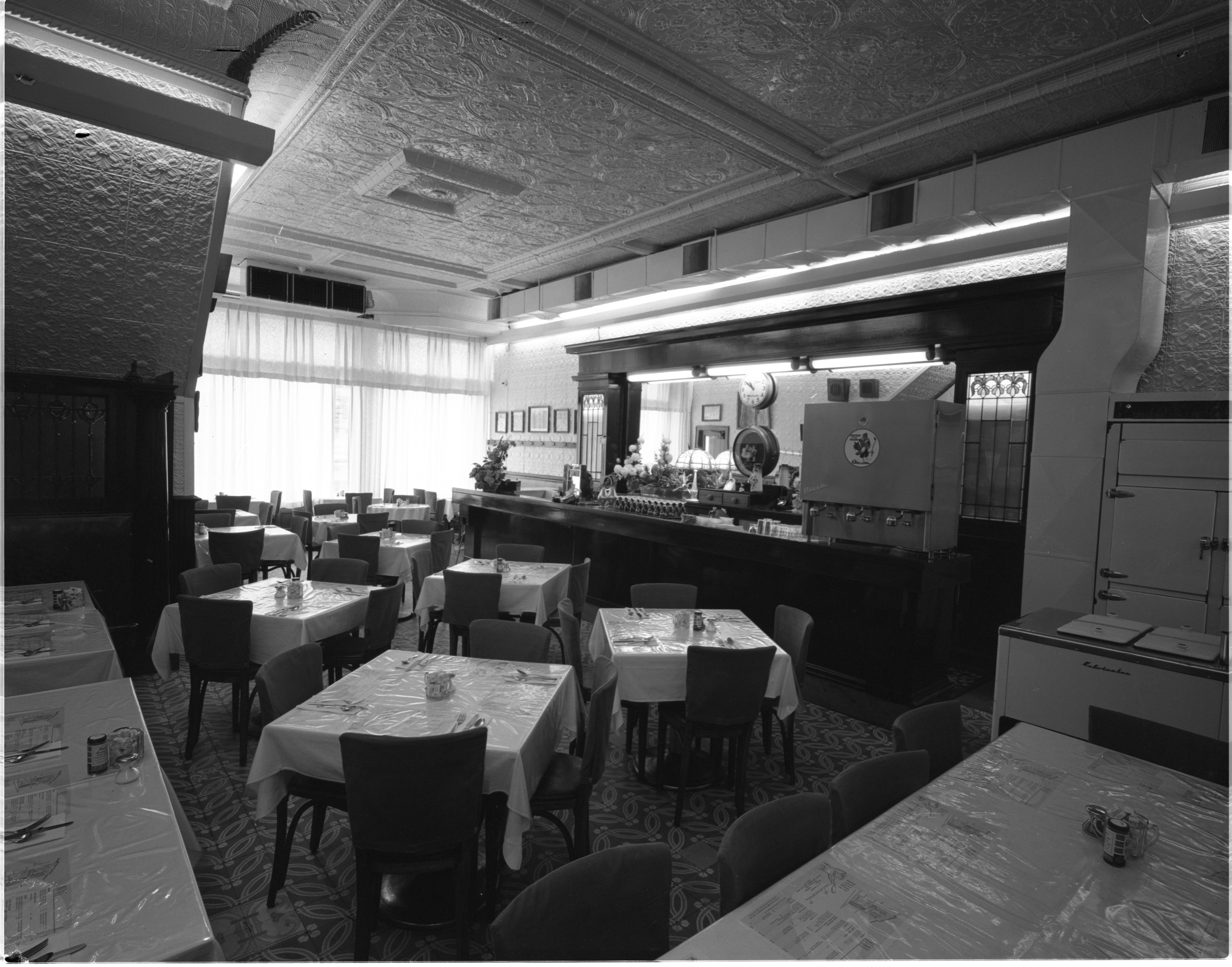 Interior Of Haab's Restaurant, 18 W. Michigan Avenue, Ypsilanti - November 1961 image