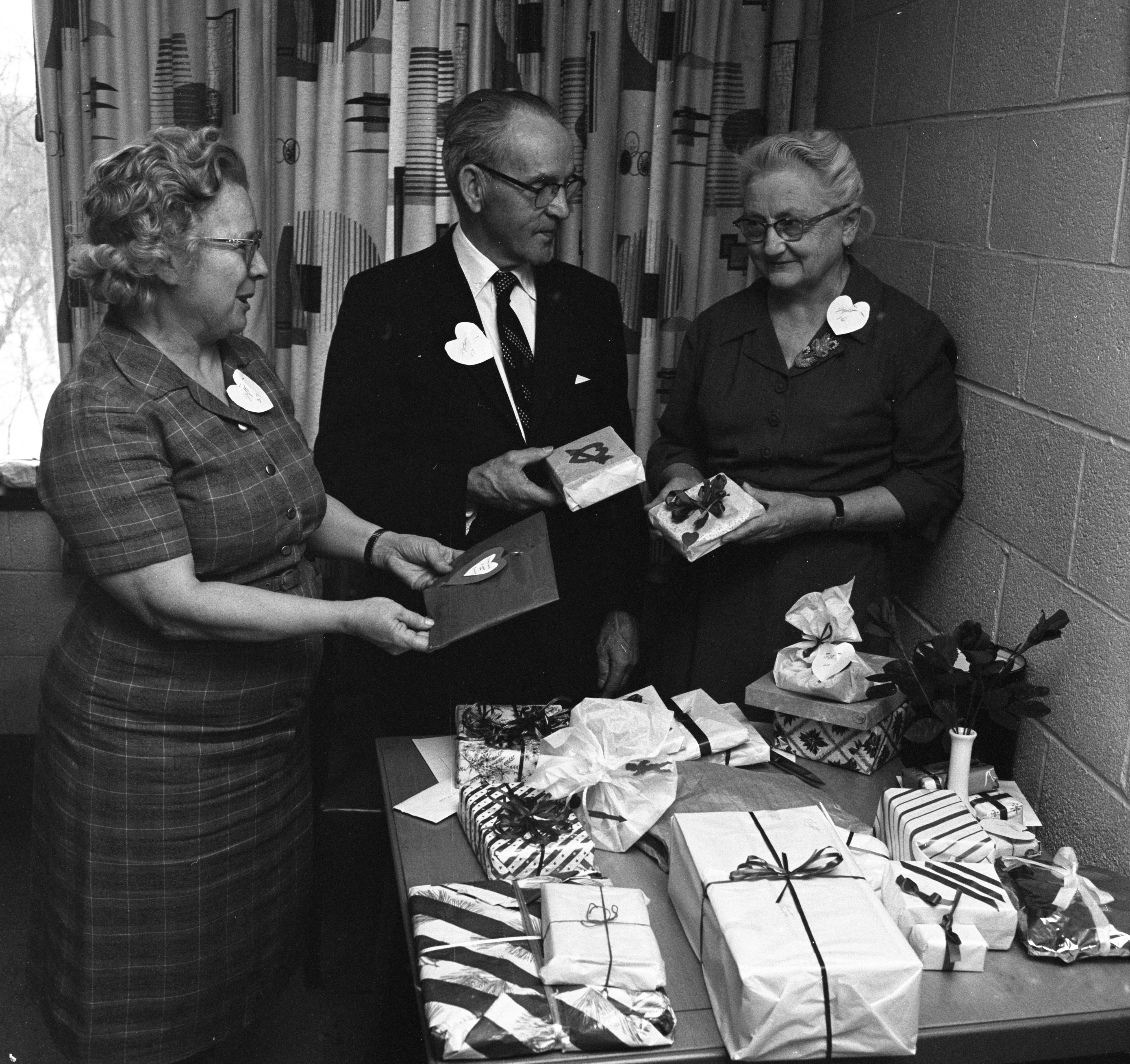 Senior Citizens Club Valentine Party At St. Luke's Church In Ypsilanti, February 1962 image