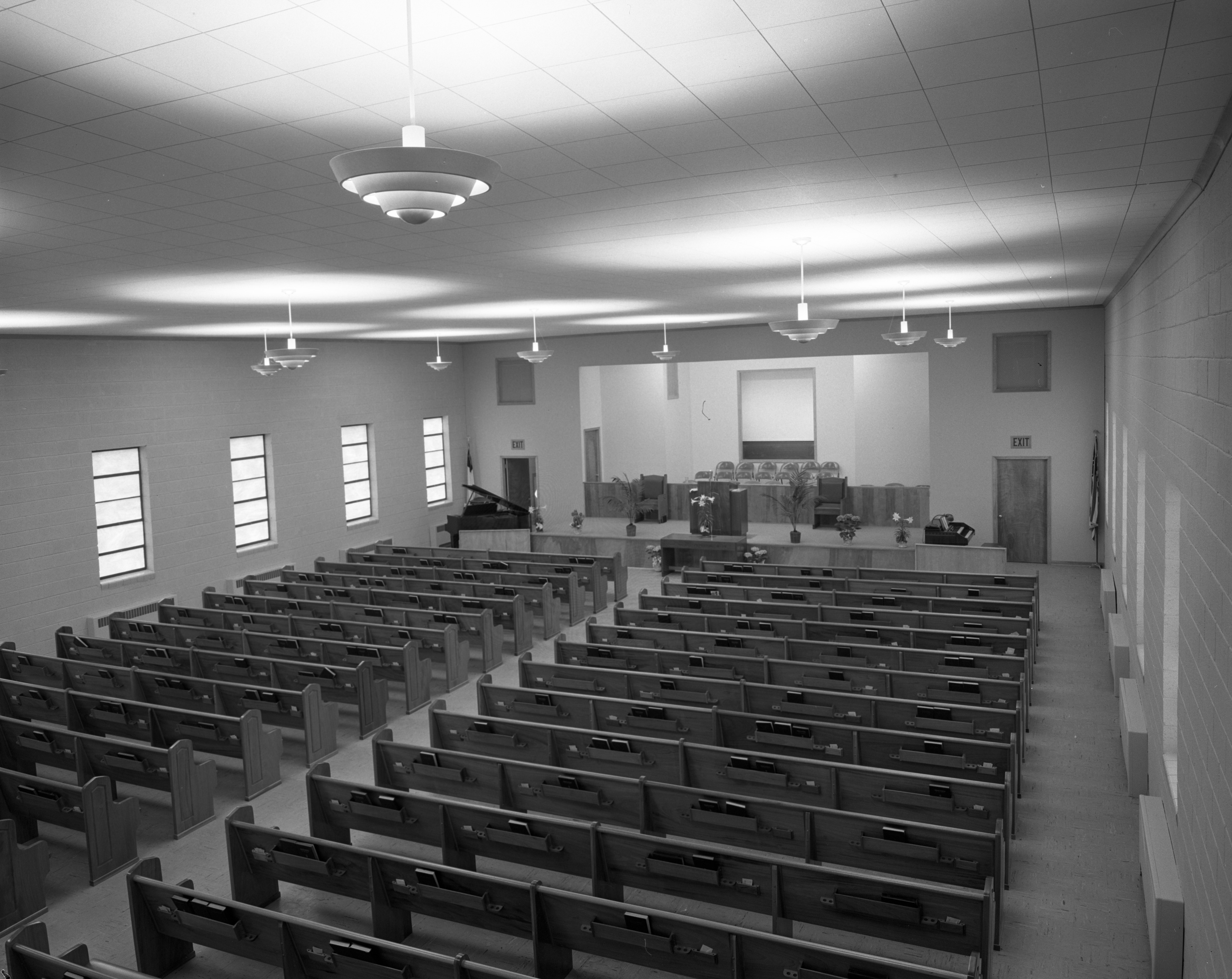 Interior of New Auditorium of Ypsilanti Calvary Baptist Church, April 1956 image