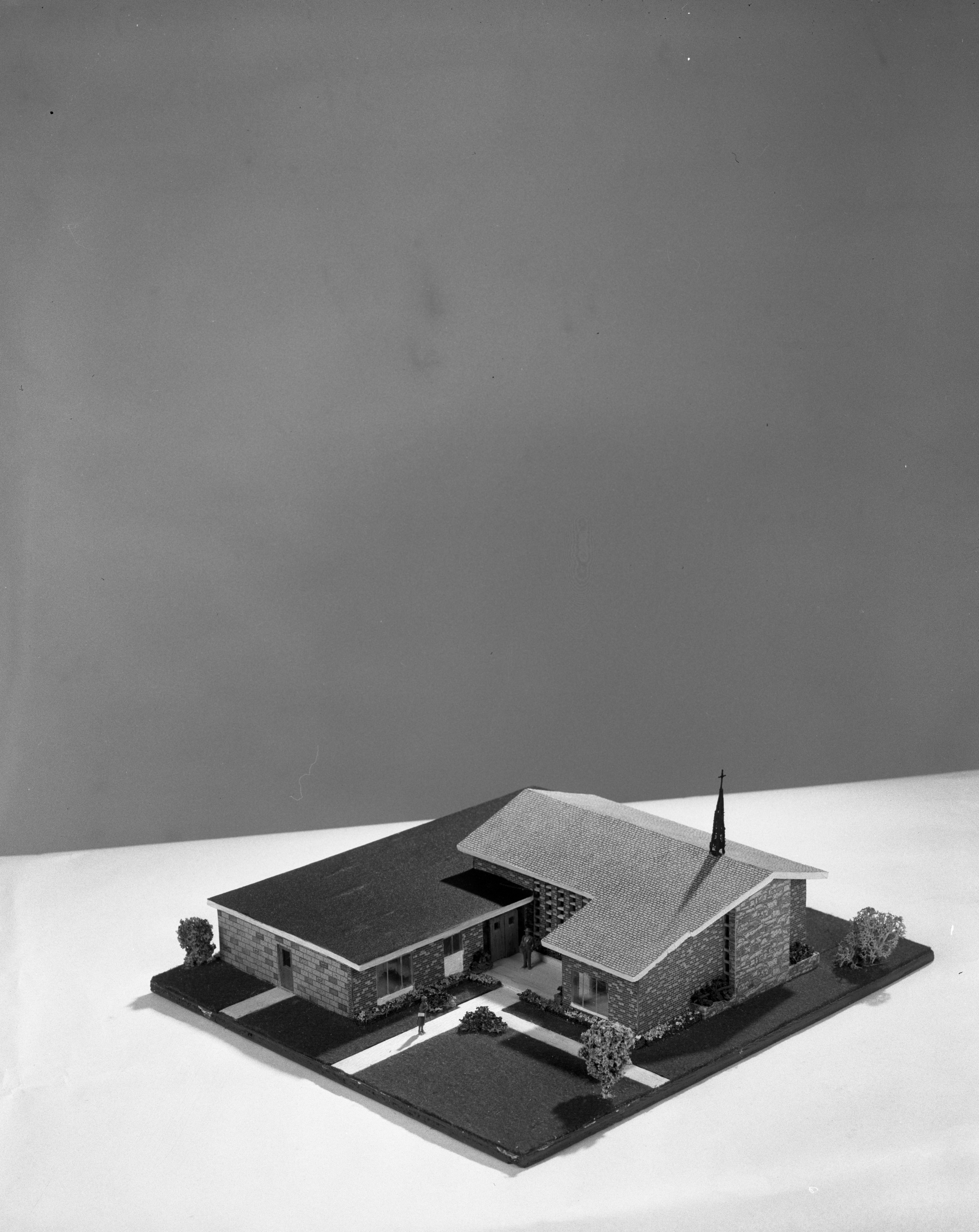 Model of New St. Mark American Lutheran Church, Ypsilanti, September 1958 image
