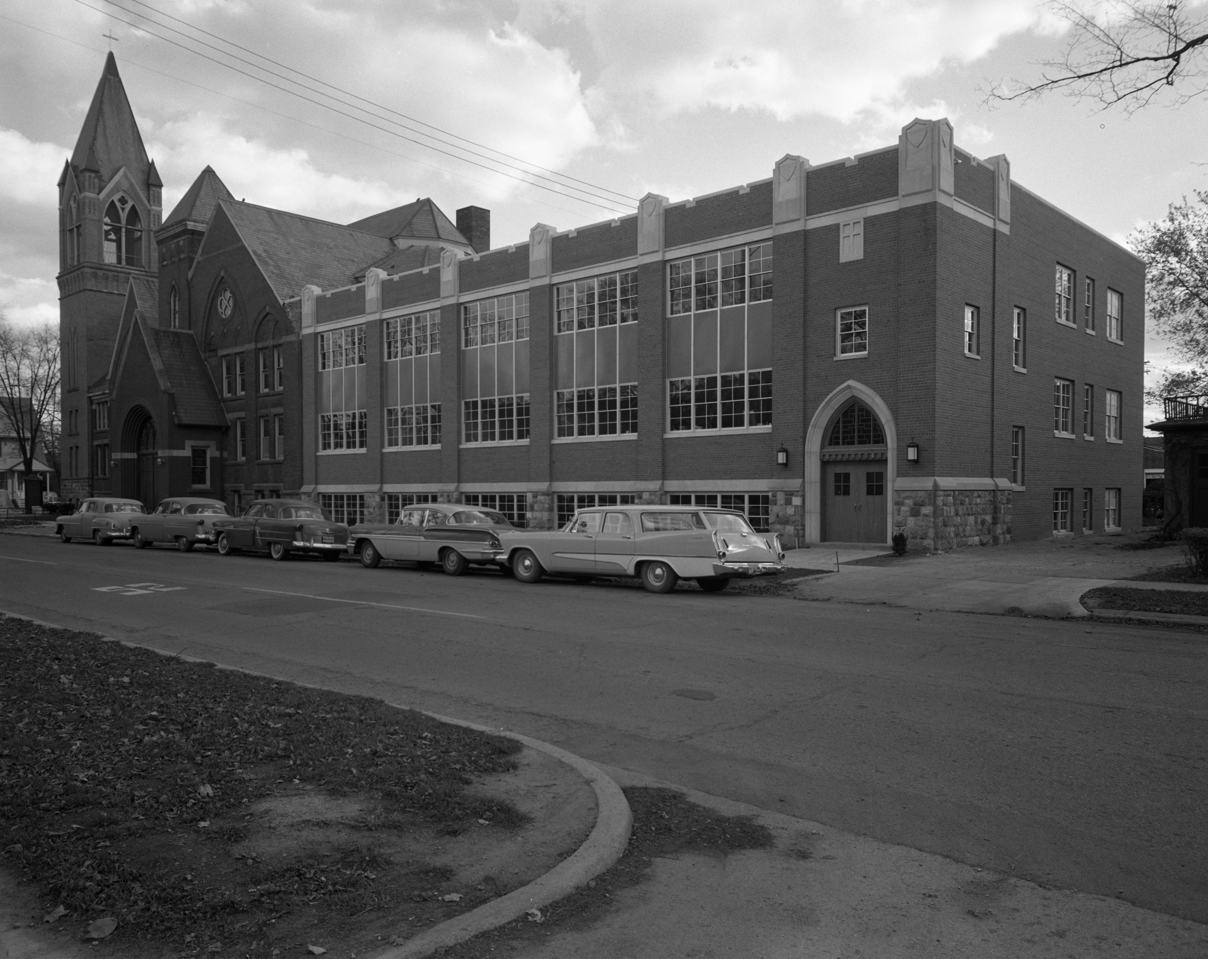 Education Building Addition to Ypsilanti Methodist Church, November 1958 image