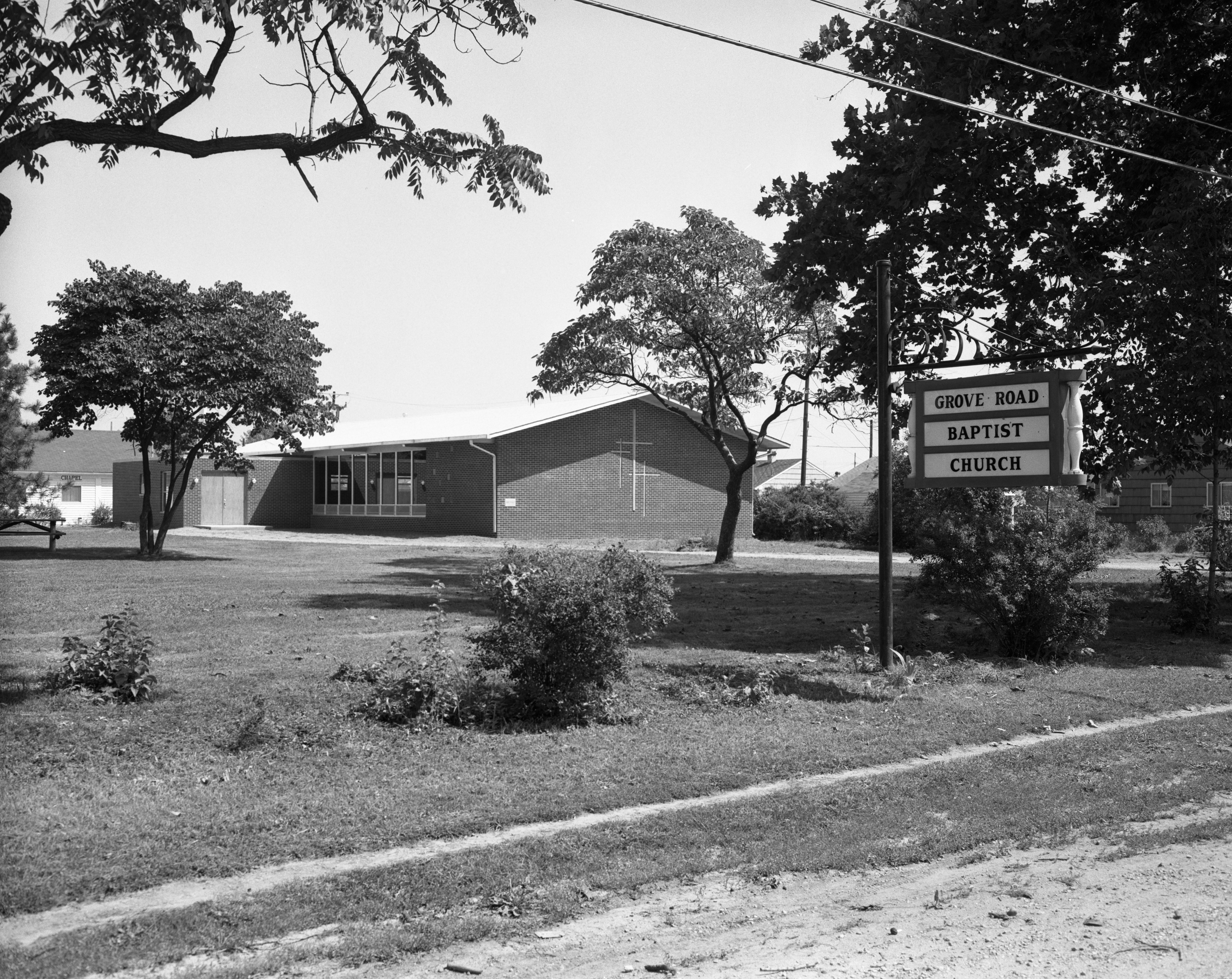 Grove Road Baptist Church, August 1960 image
