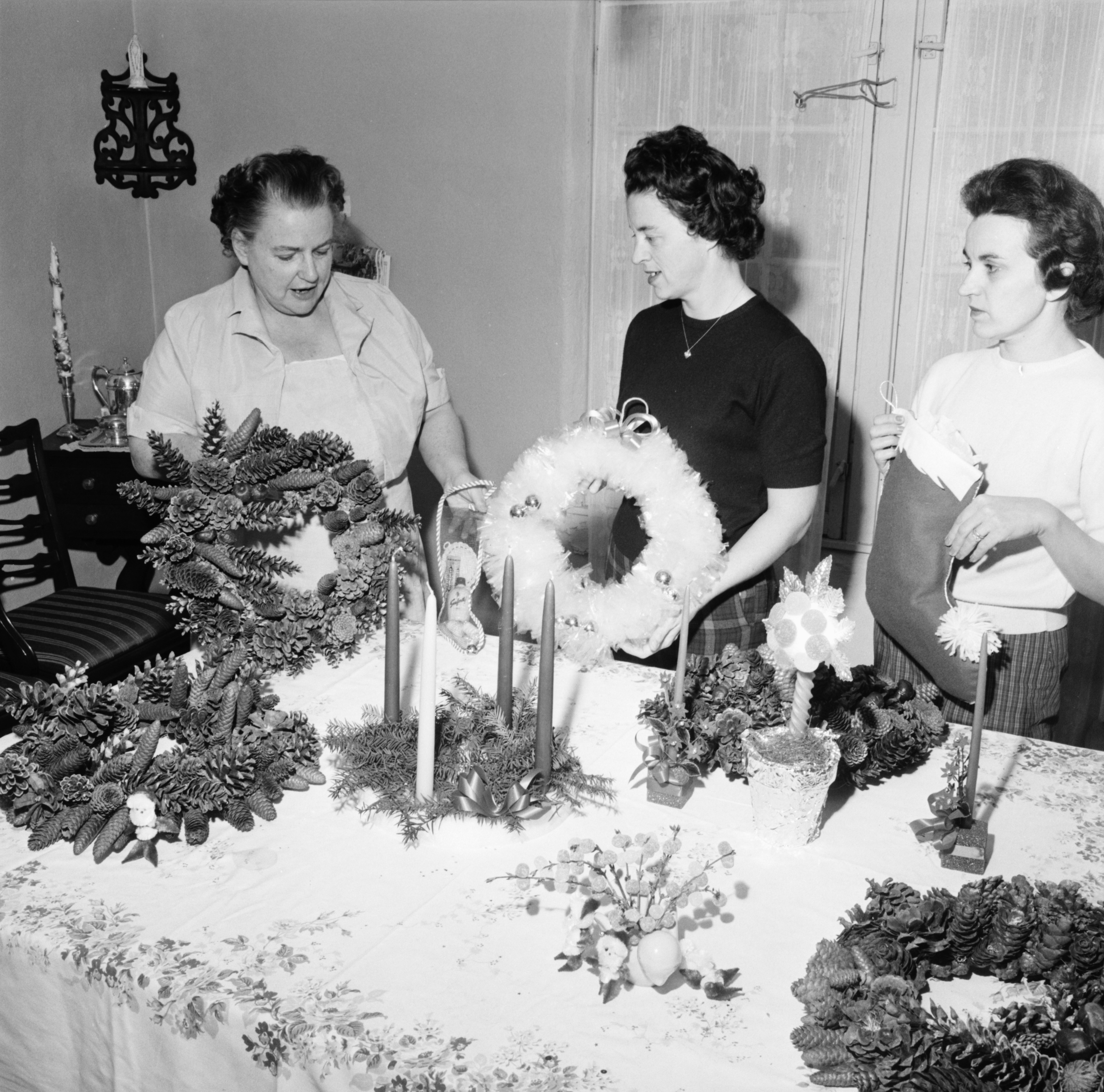 St. John's Holiday Bazaar Preparations, November 1961 image