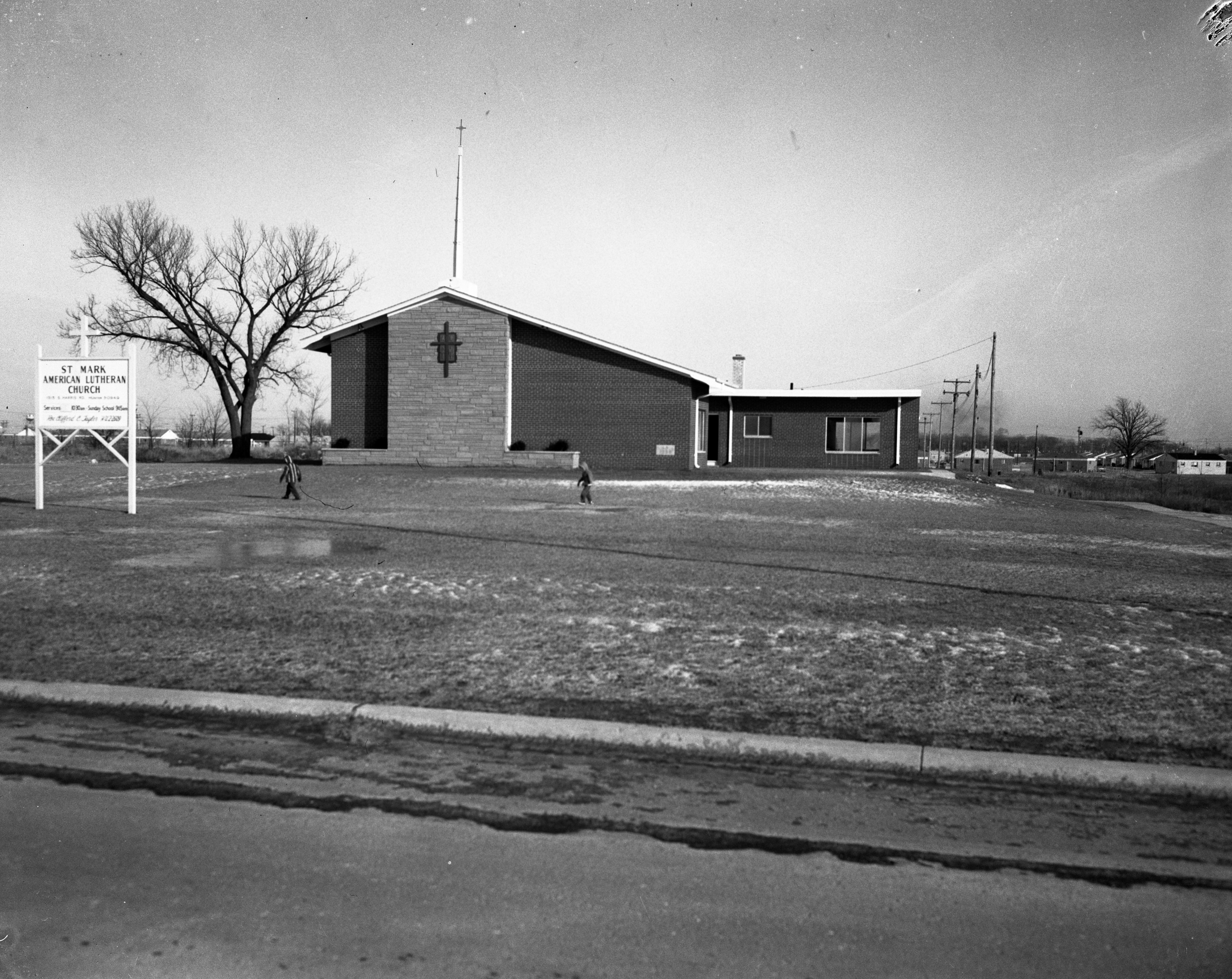 Exterior of St. Mark's Lutheran Church, Ypsilanti, March 1962 image