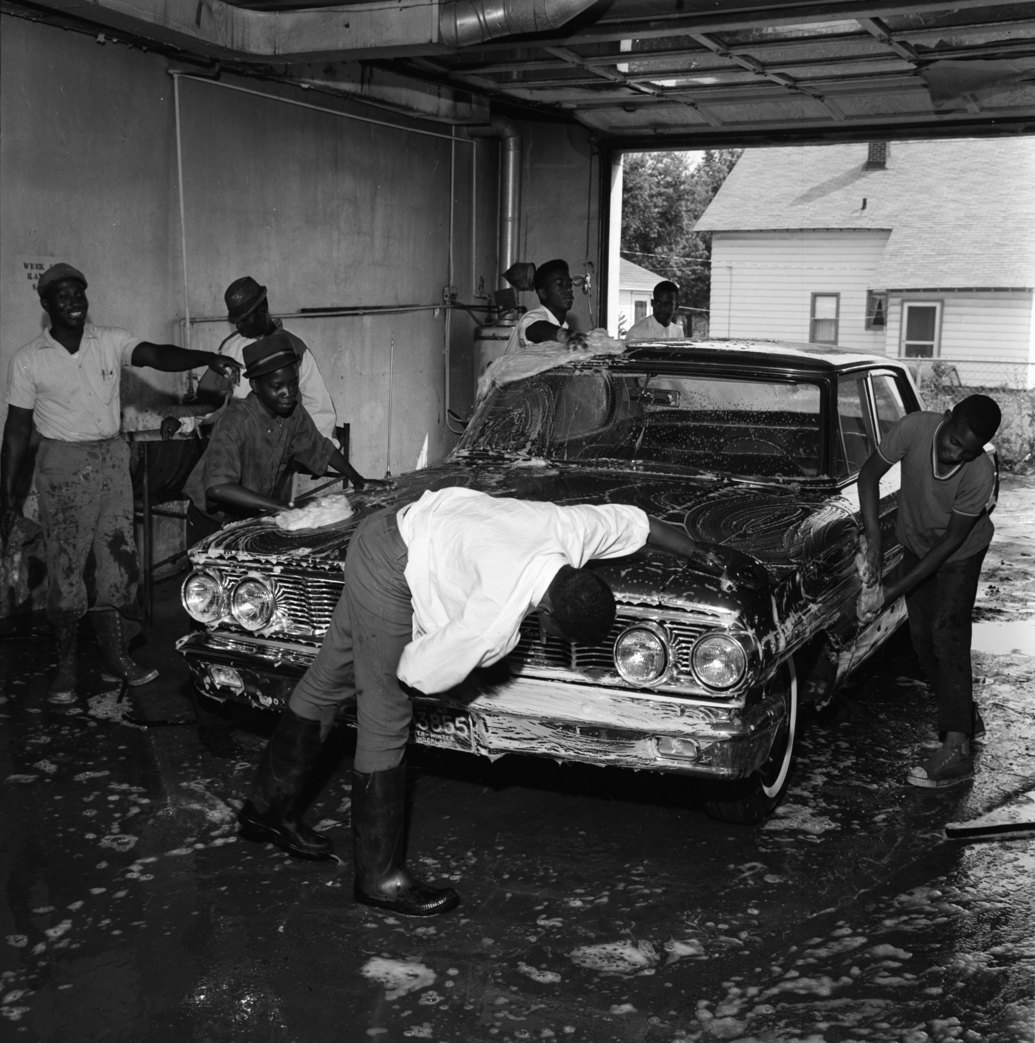 Car Wash to Raise Funds for Charitable Projects at Christ Temple Apostolic Faith Church of Ypsilanti, August 1965 image