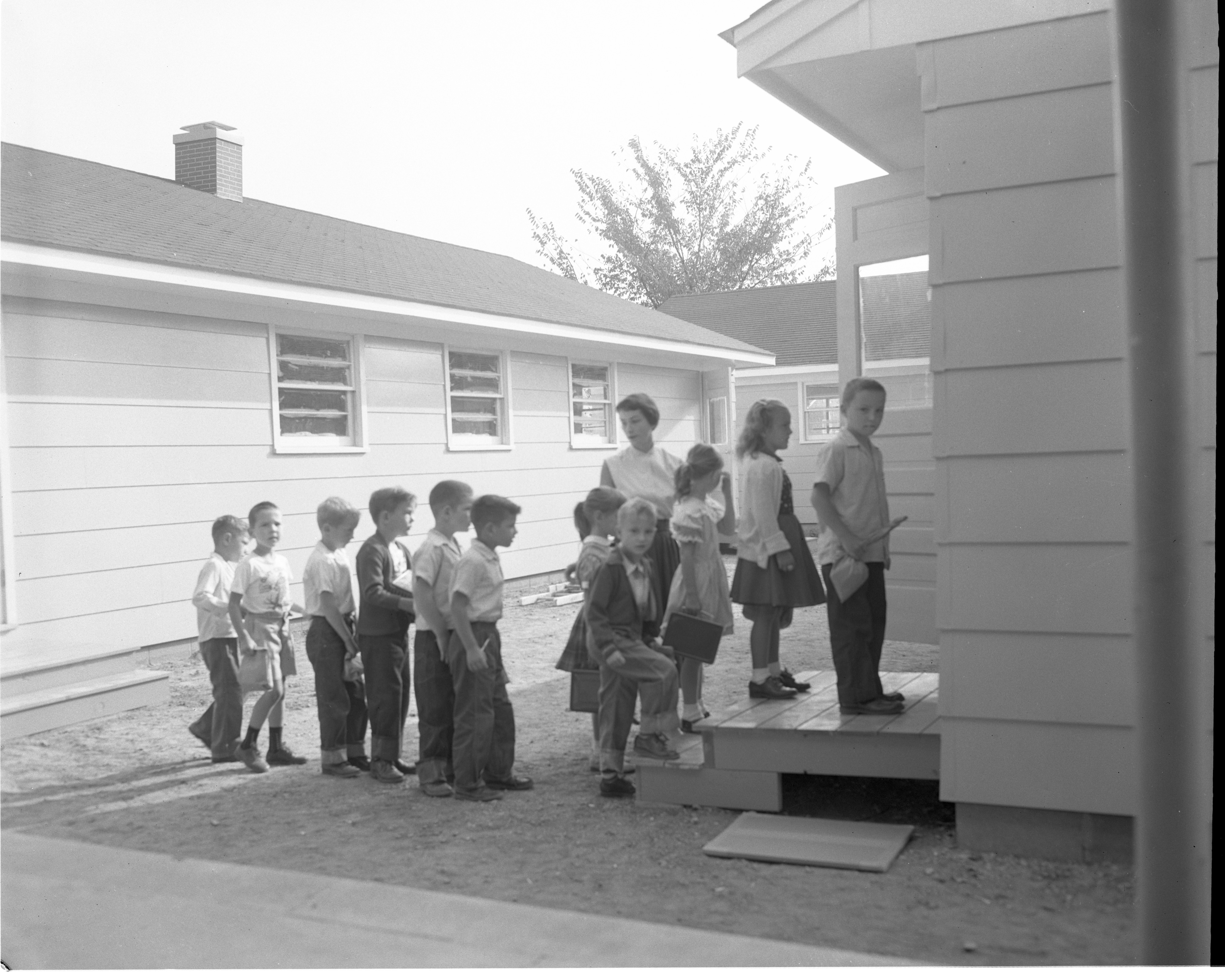 First Day Of School At George Elementary School, September 1955 image