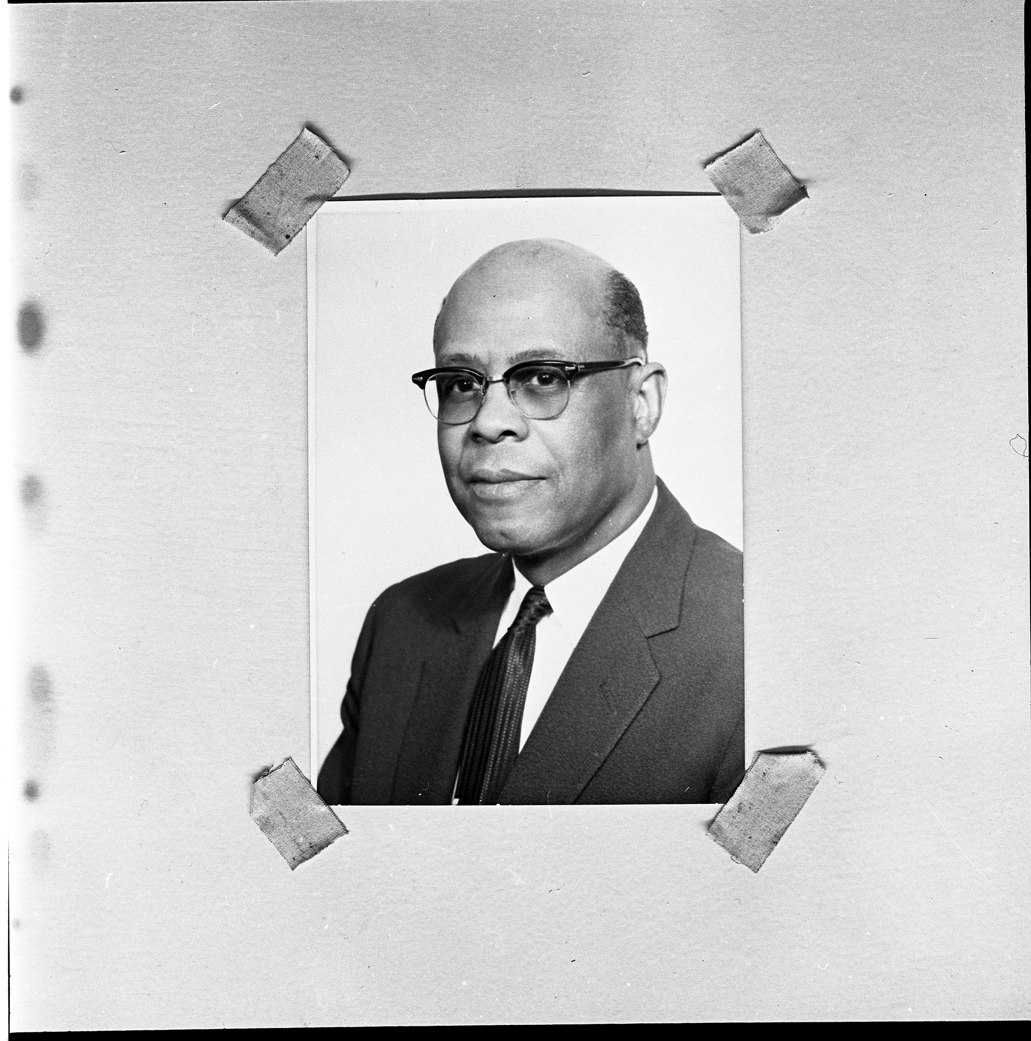 Amos Washington, Ypsilanti City Official, February 1967 image