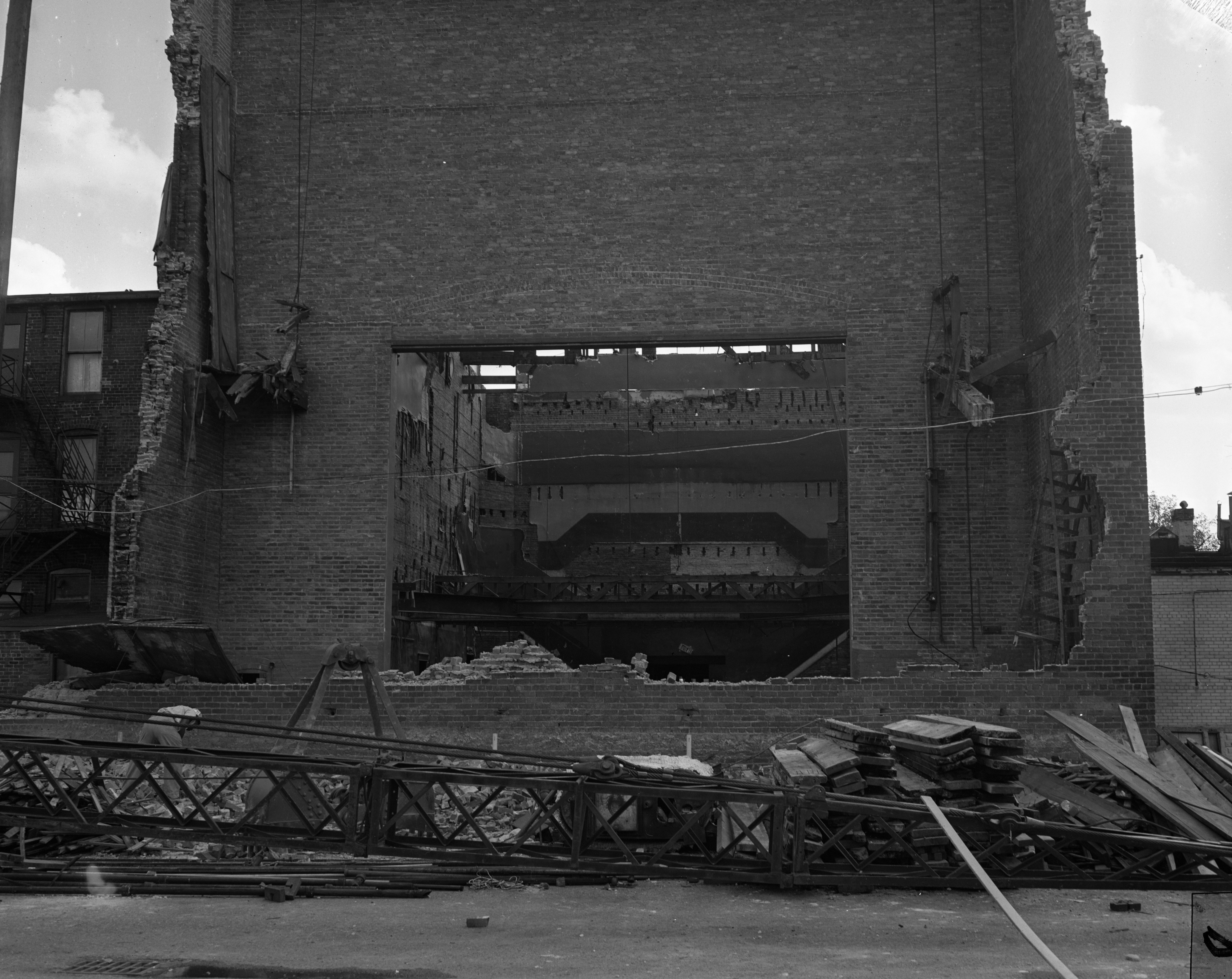 Wuerth Theatre in Ypsilanti coming down to expand Adams St. parking lot, September 1959 image