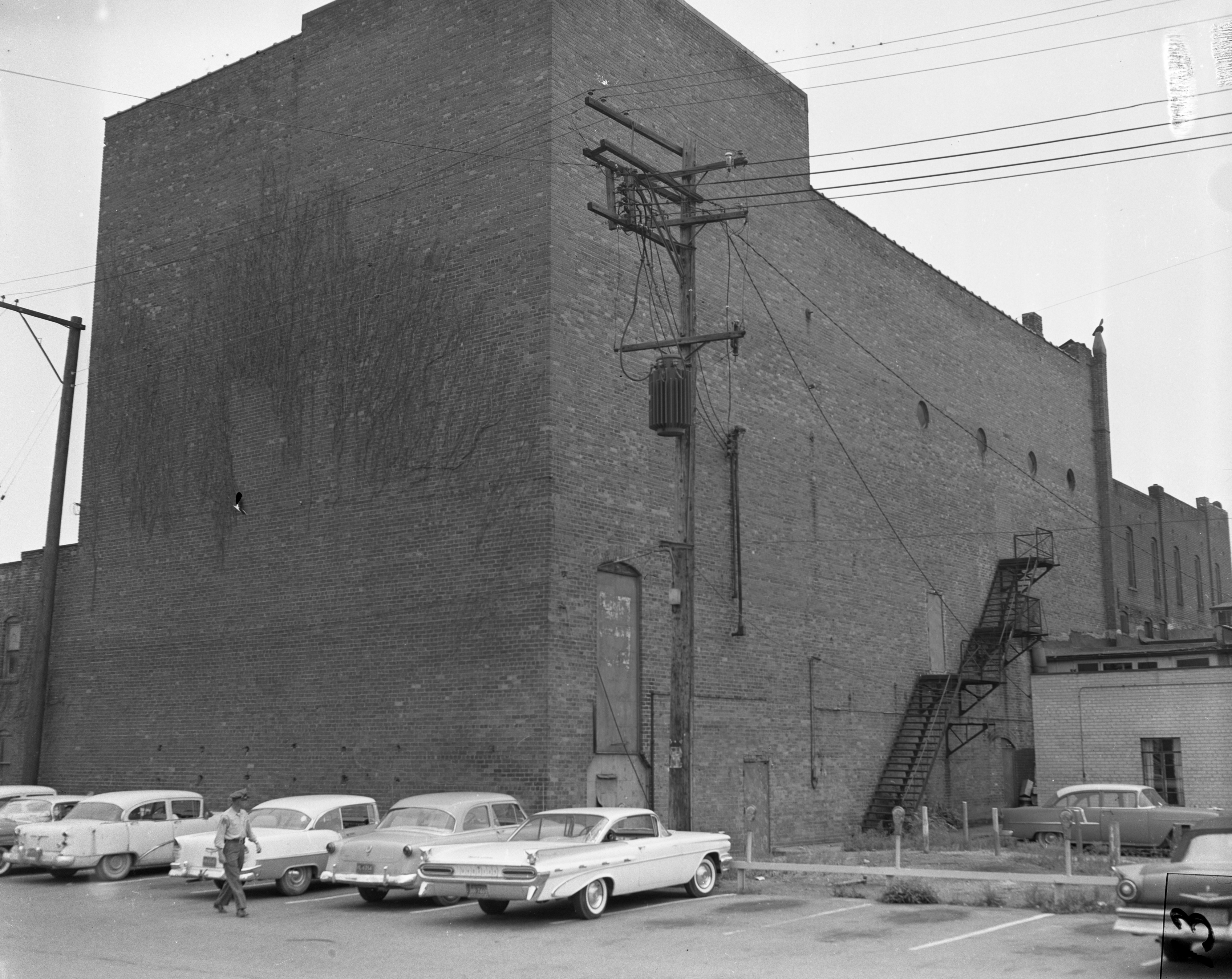 Rear of Wuerth Theatre in Ypsilanti, July 1959 image