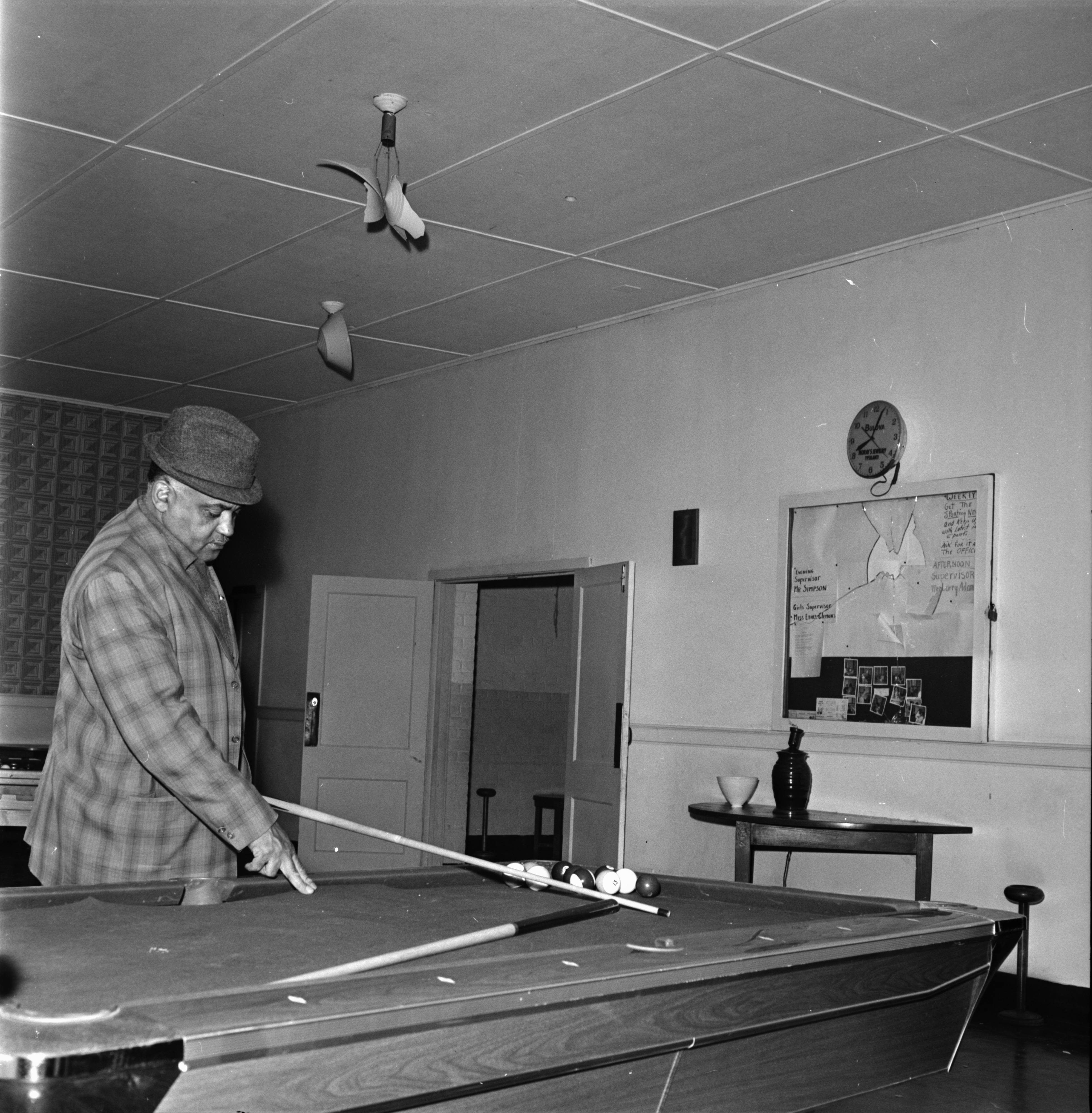 Surveying Damage from Vandalism at Parkridge Community Center, October 1967 image