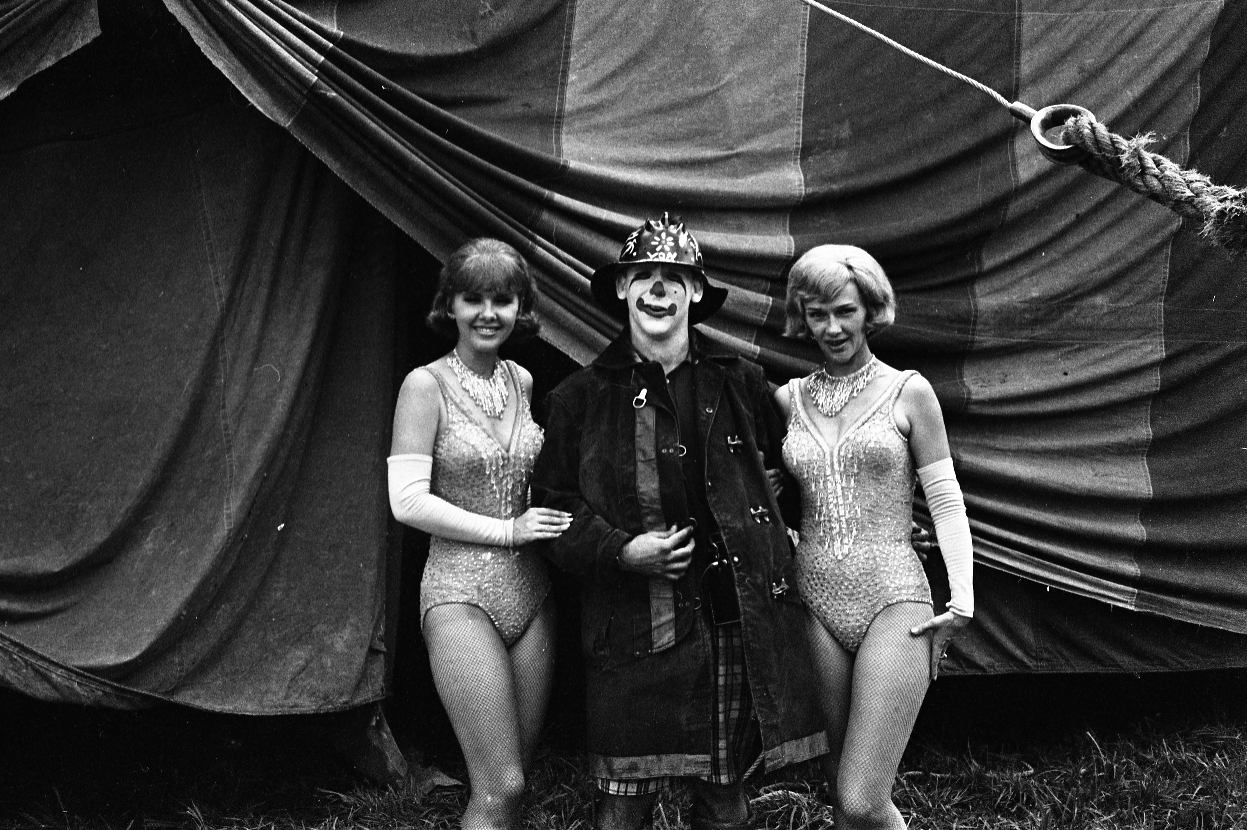 Clown With Other Circus Performers At The Clyde-Beatty Cole Brothers Circus, August 8, 1968 image