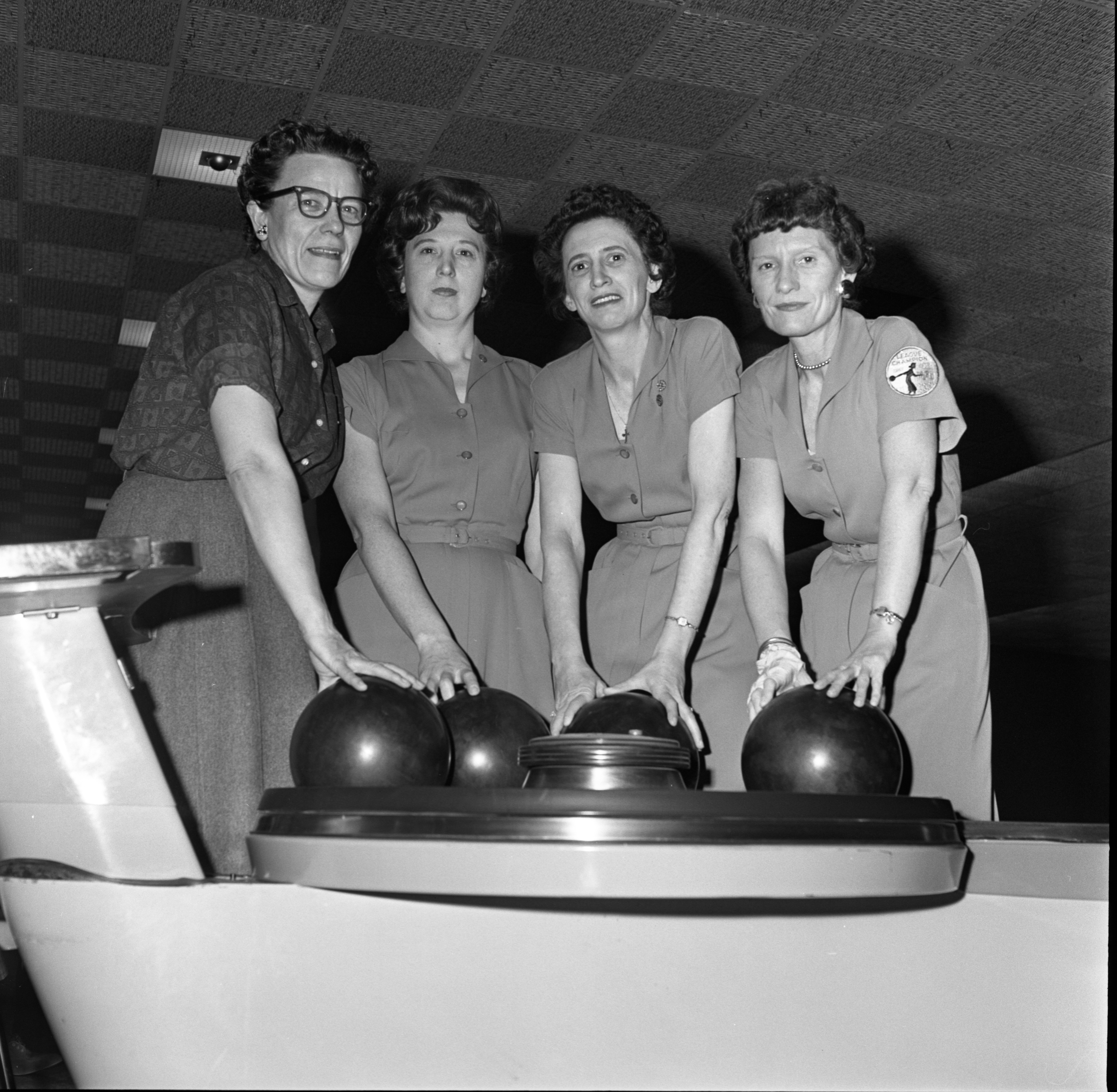 Richardson's Pharmacy Bowling Team Members Pose After Tournament, March 14, 1963 image