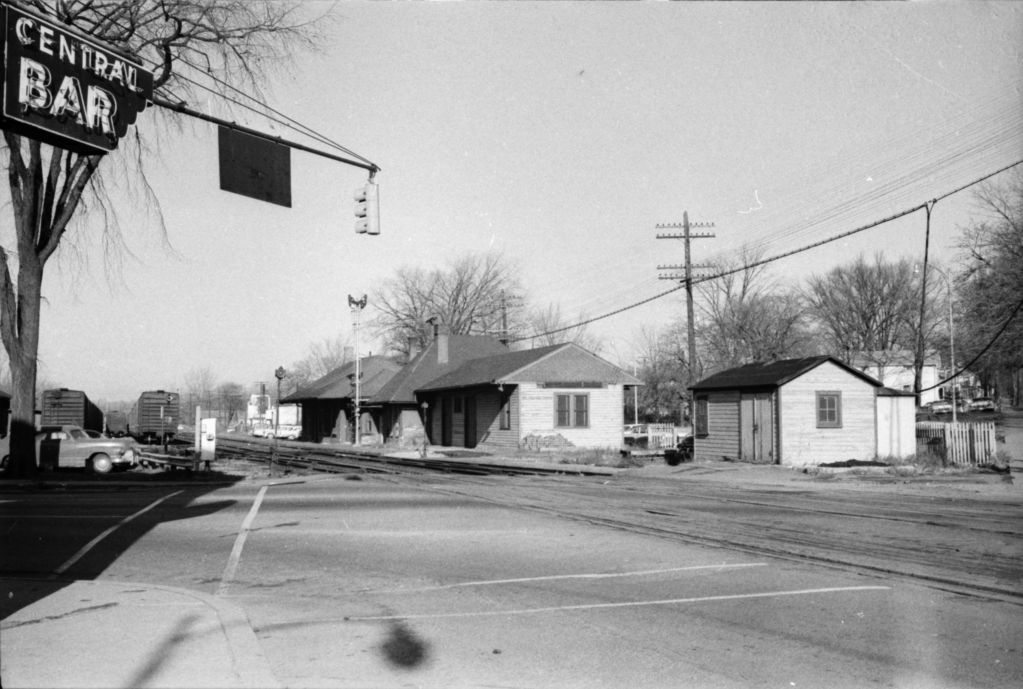 Old train station in Depot Town, Ypsilanti, undated image