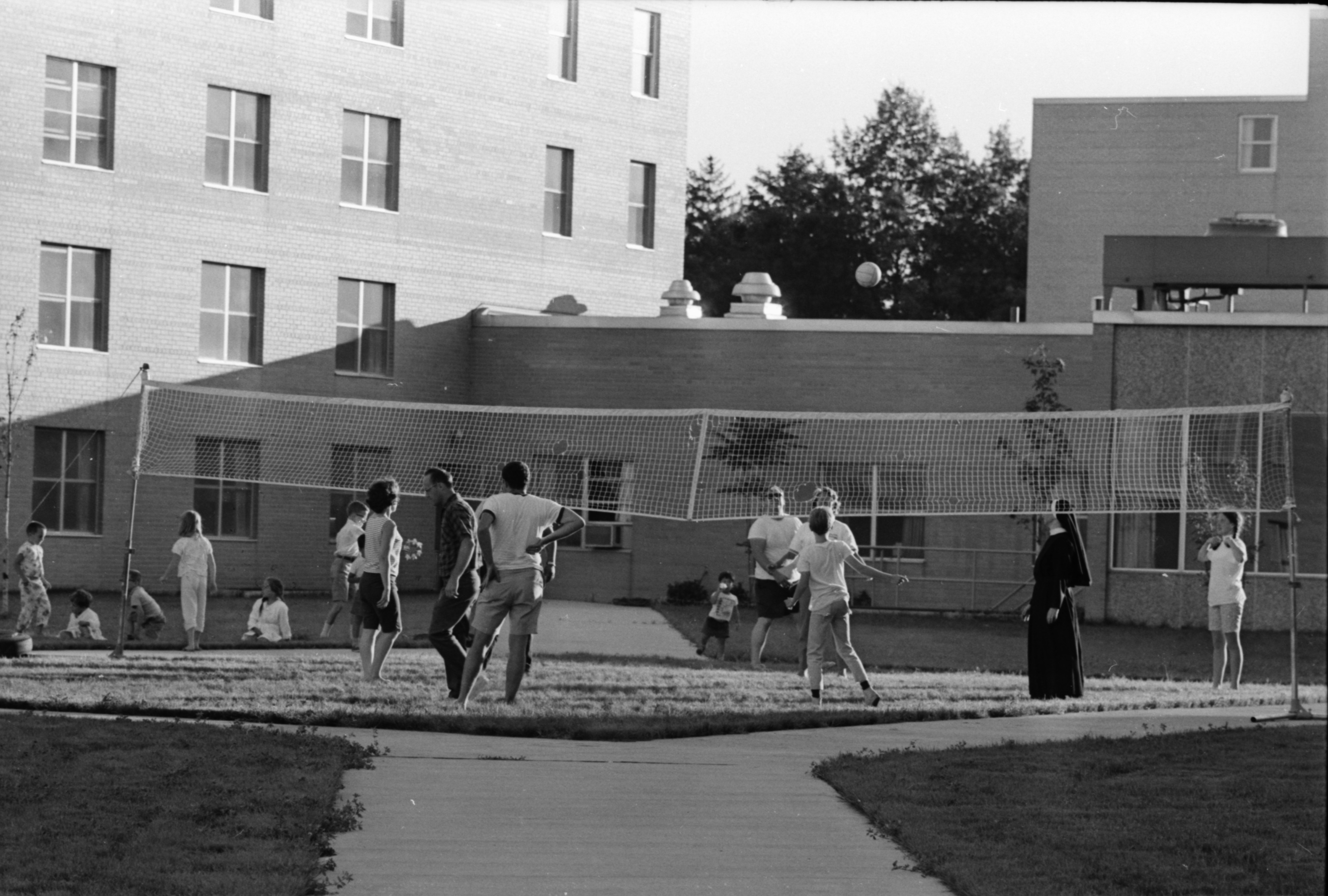 Volleyball Game at Eastern Michigan University, July 1968 image