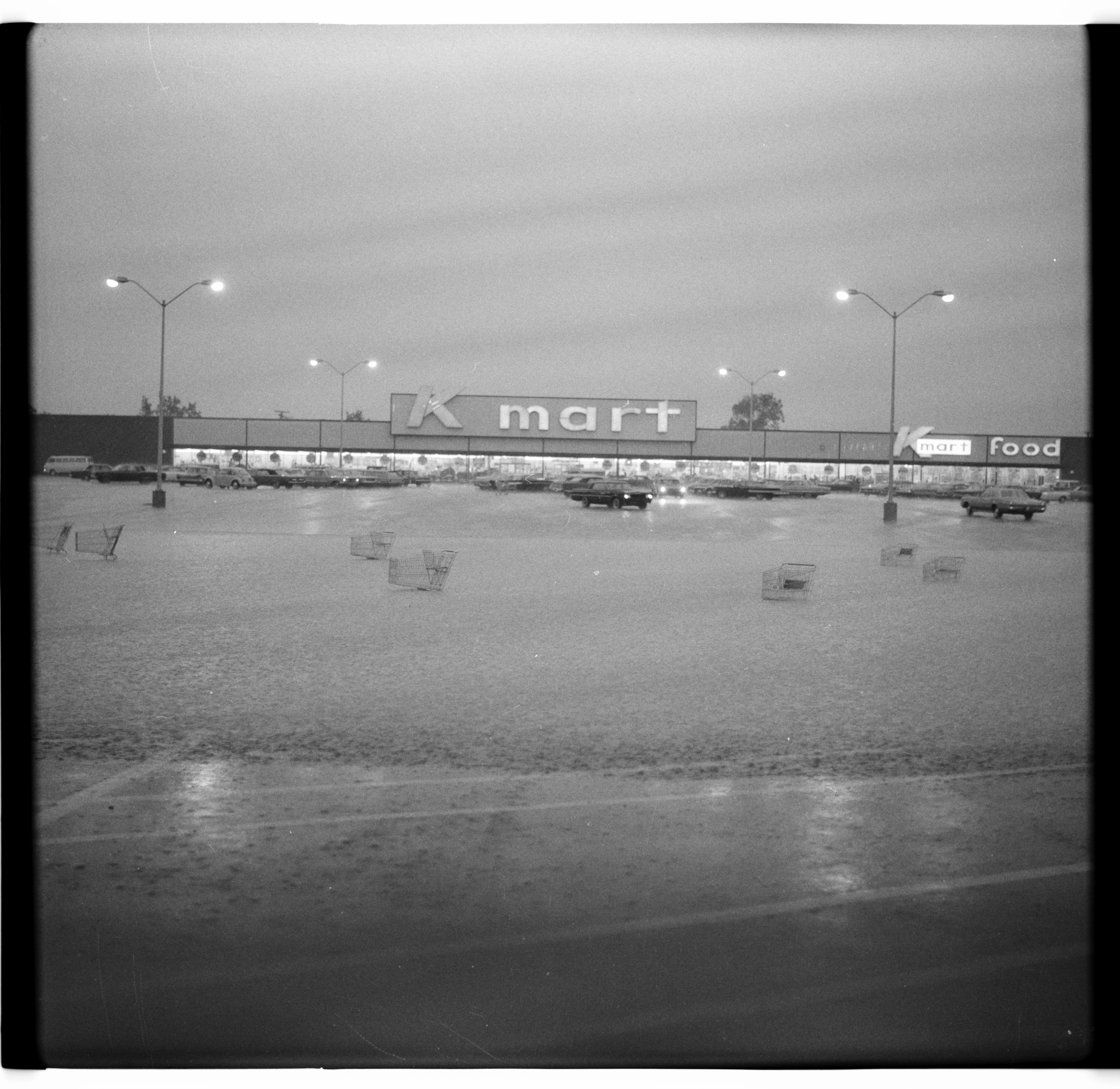 Flooded Kmart Parking Lot, June 1968 Floods image