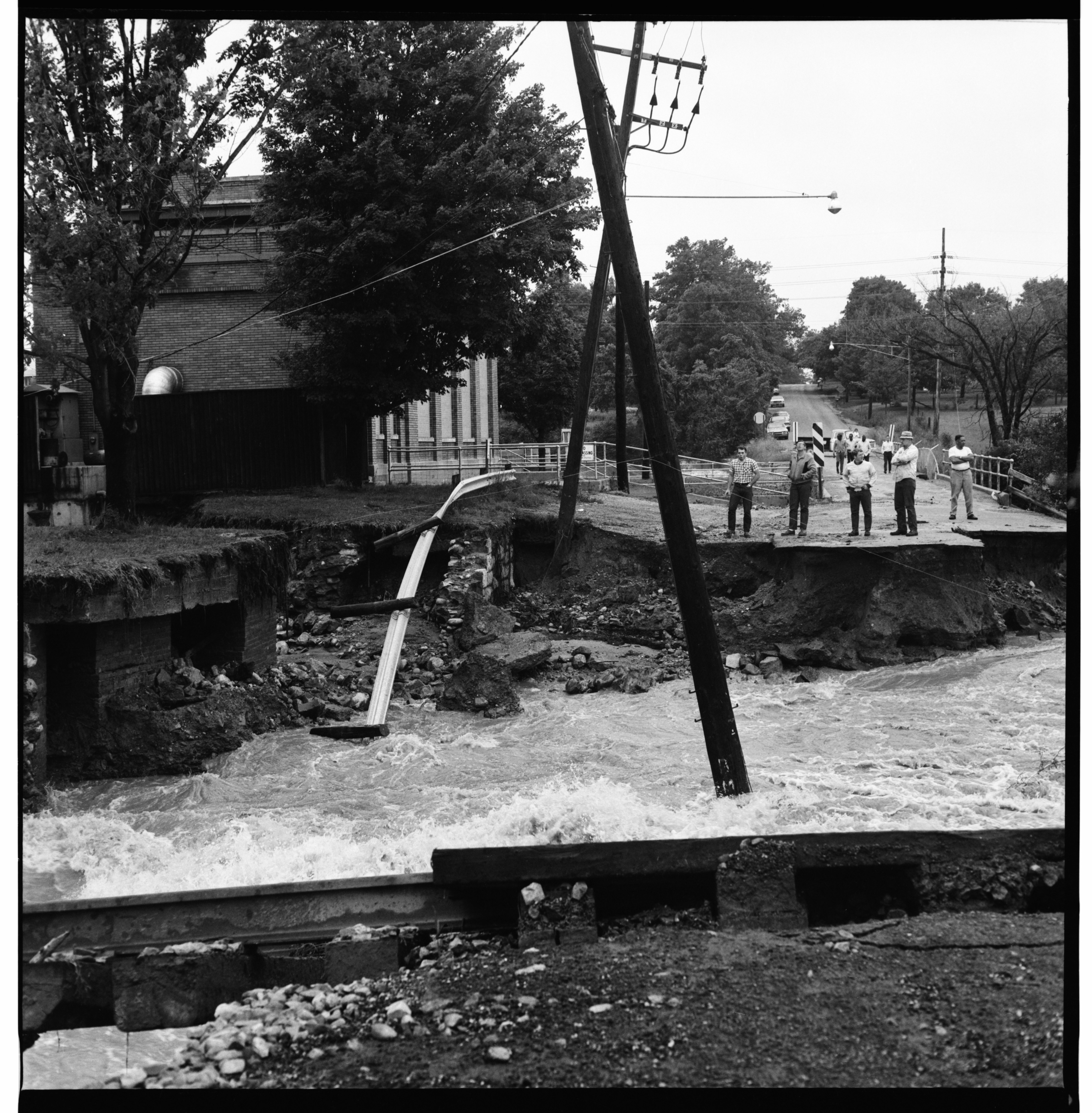 Washed Out Dixboro Rd, June 1968 Flood image