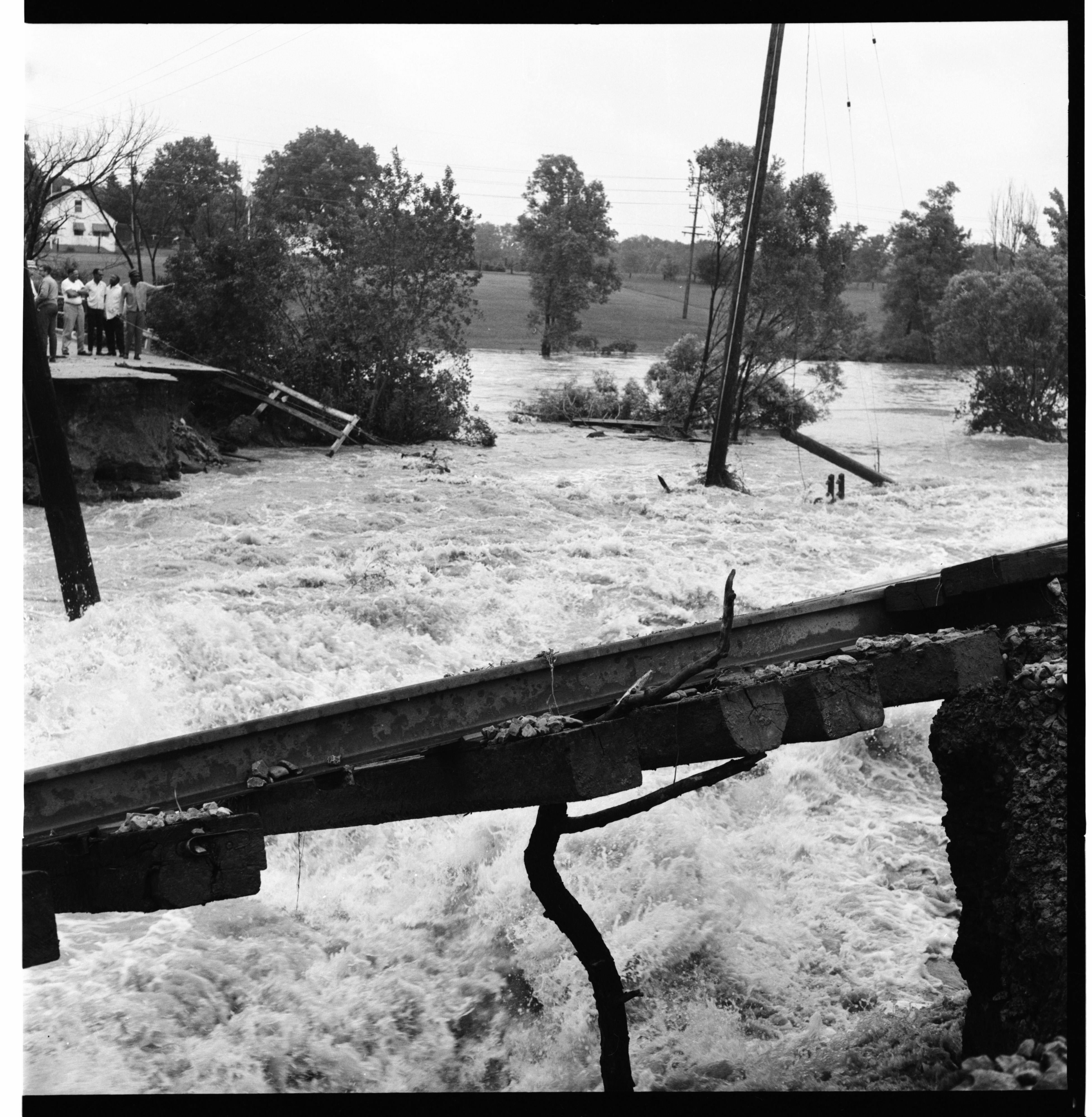 Washed out Dixboro Rd, June 1968 image