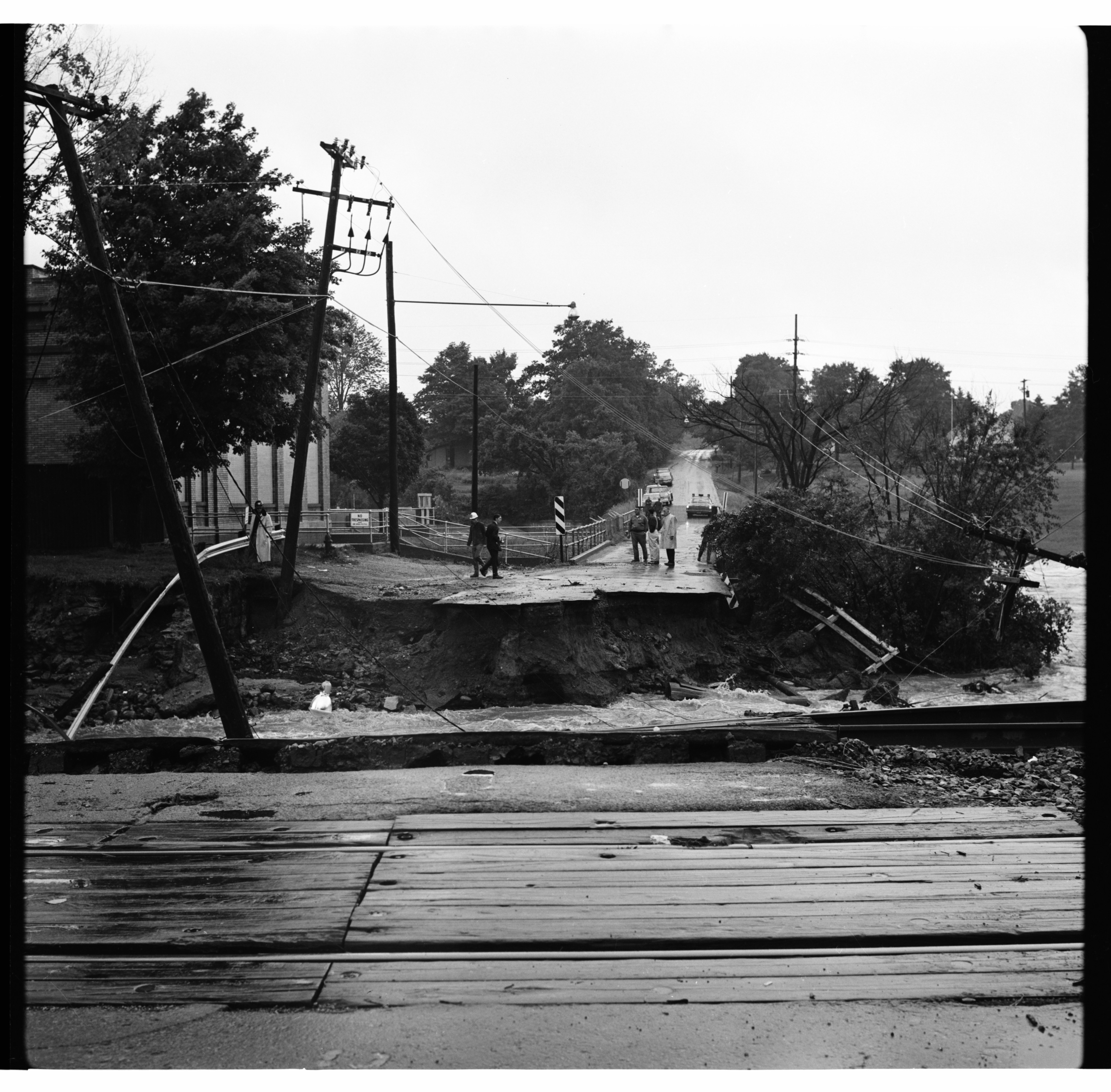 Washed Out Dixboro Road, June 1968 Flood image
