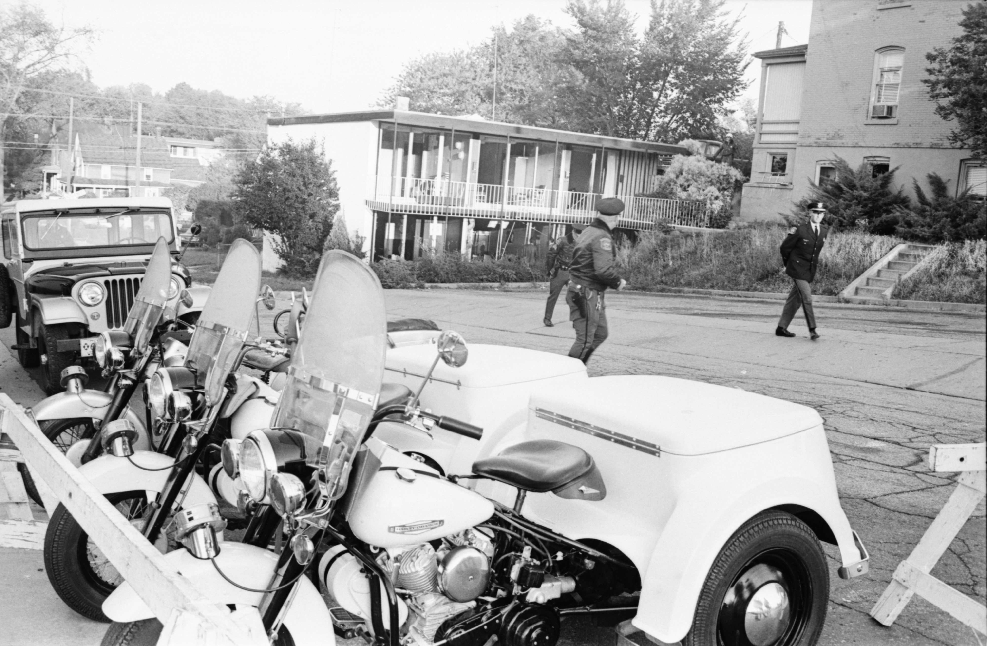 Ann Arbor Police Department - Officers At Scene Of CIA Bomb Blast On West Jefferson Street  image