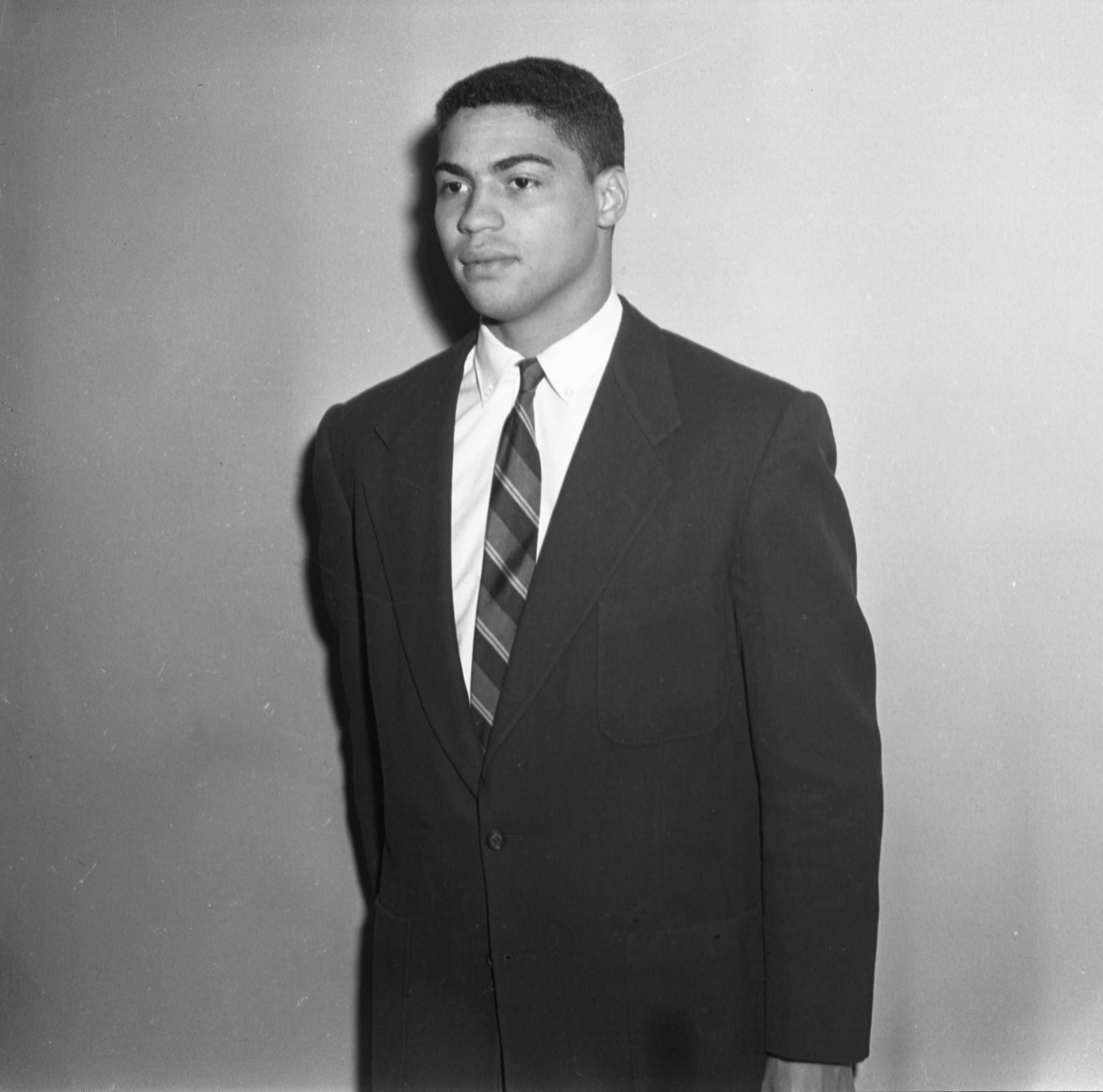 Lowell Perry, UM All-American Football Player & Ypsilanti Native, May 17, 1956 image