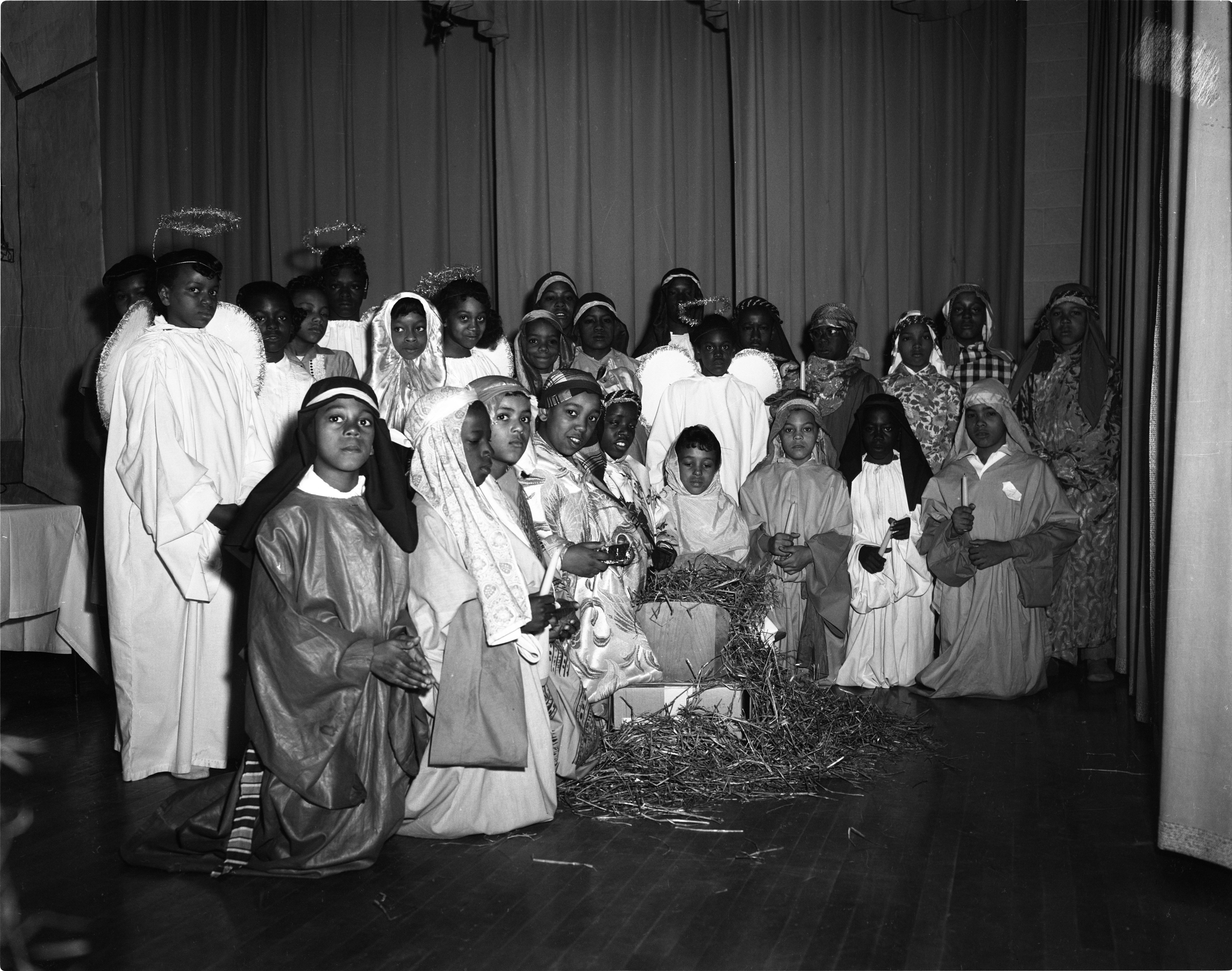 Christmas Pageant At Perry School, December 1960 image