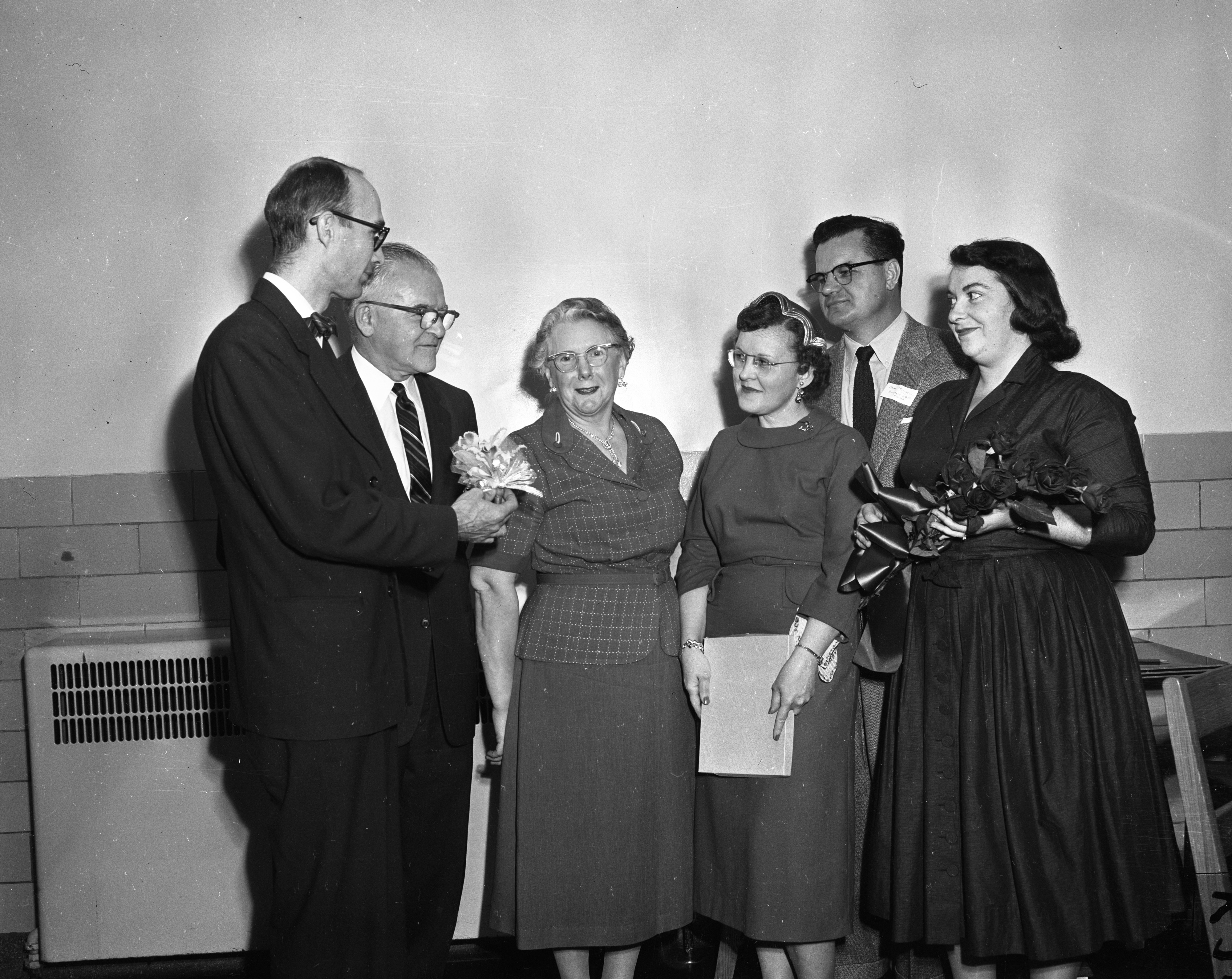 Kate Rankin honored by the Friends and Family Circle of Ypsilanti State Hospital, October, 1956 image
