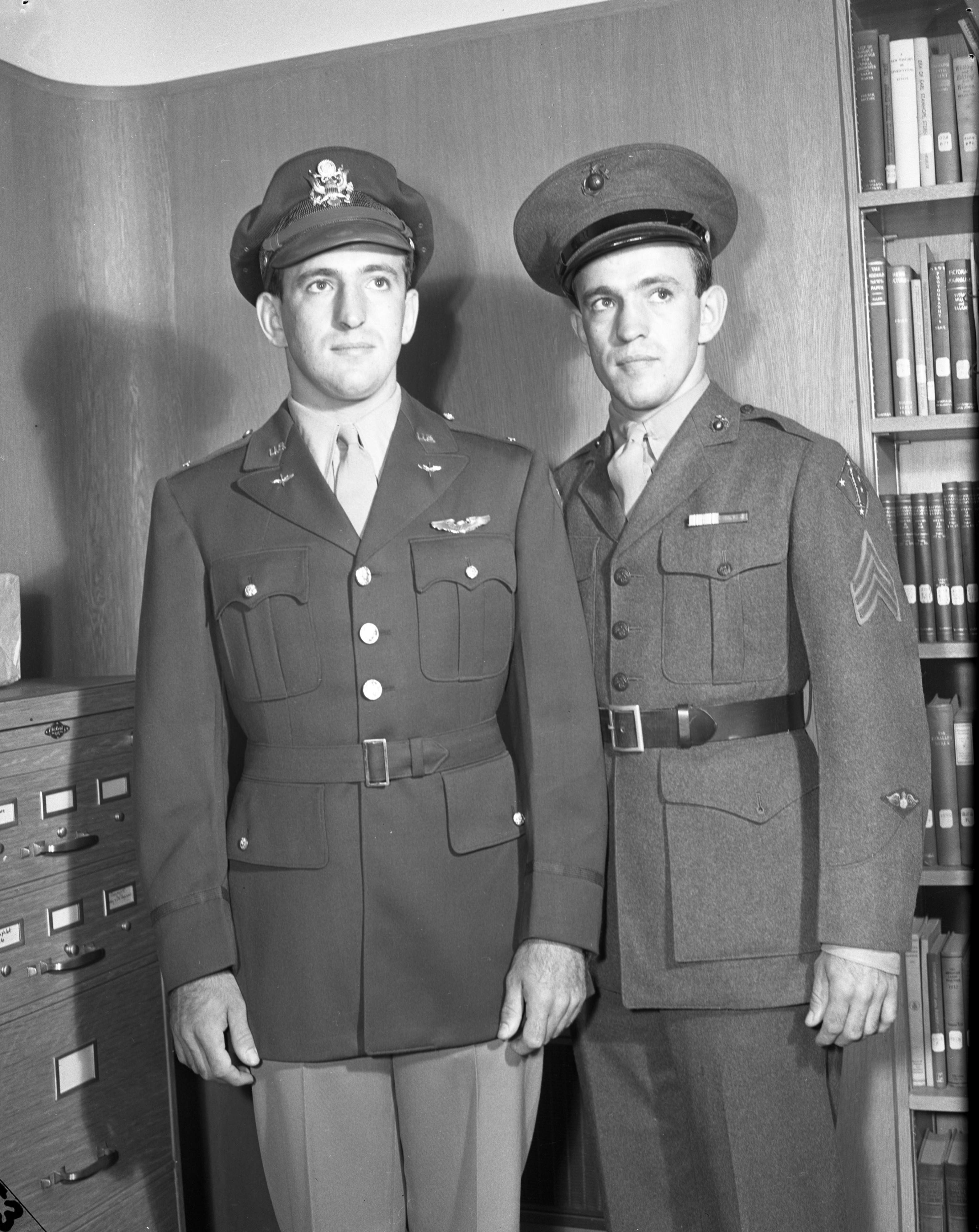 Becker Twins, Soldier and Marine, September 1943 image